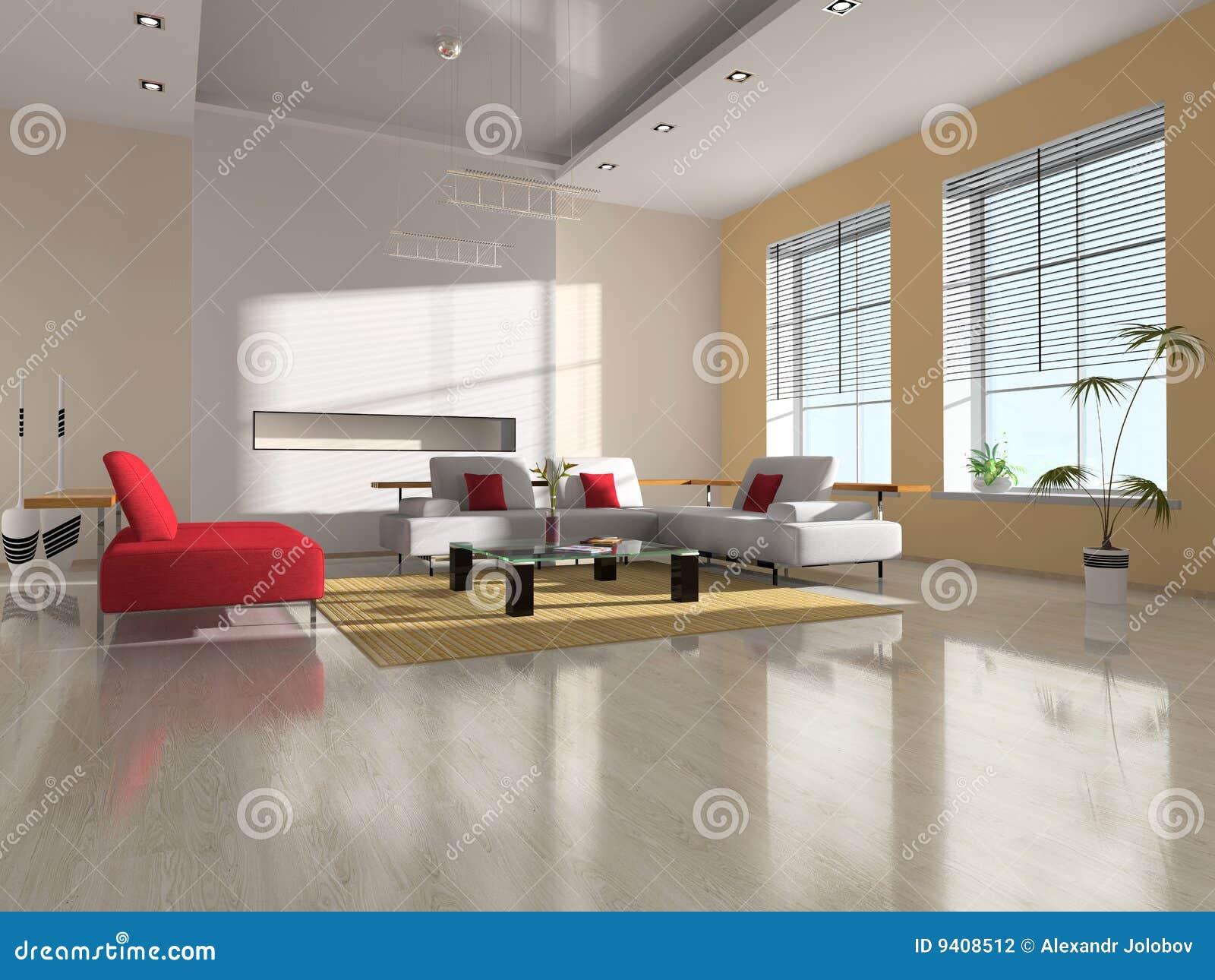 εσωτερικό σύγχρονο δωμάτιο