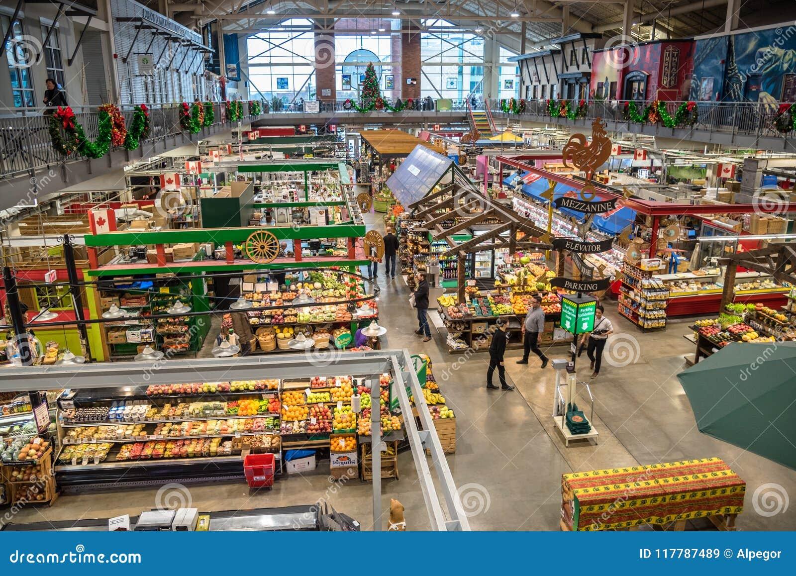 Εσωτερικό της αγοράς κήπων Covent στο Λονδίνο, ΕΠΑΝΩ, Καναδάς