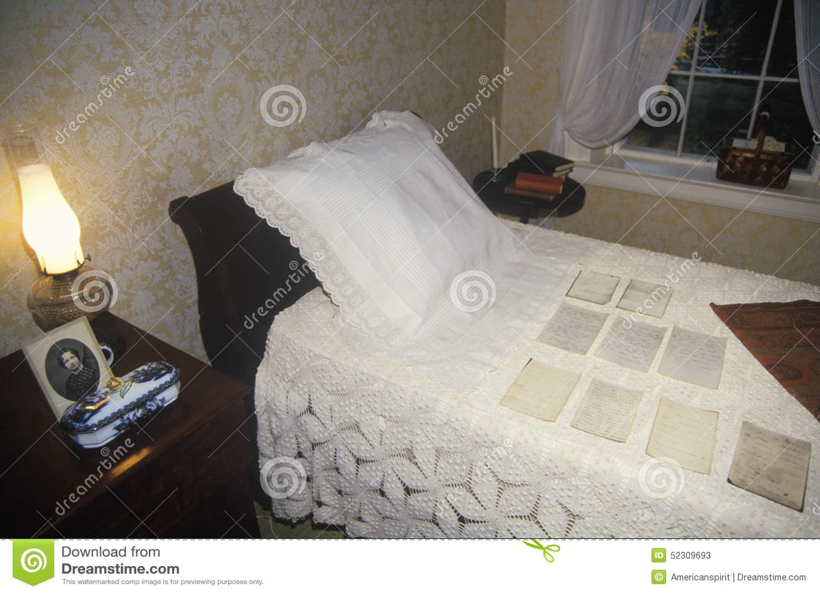 Εσωτερικό του σπιτιού της Emily Dickinson, Amherst, μΑ
