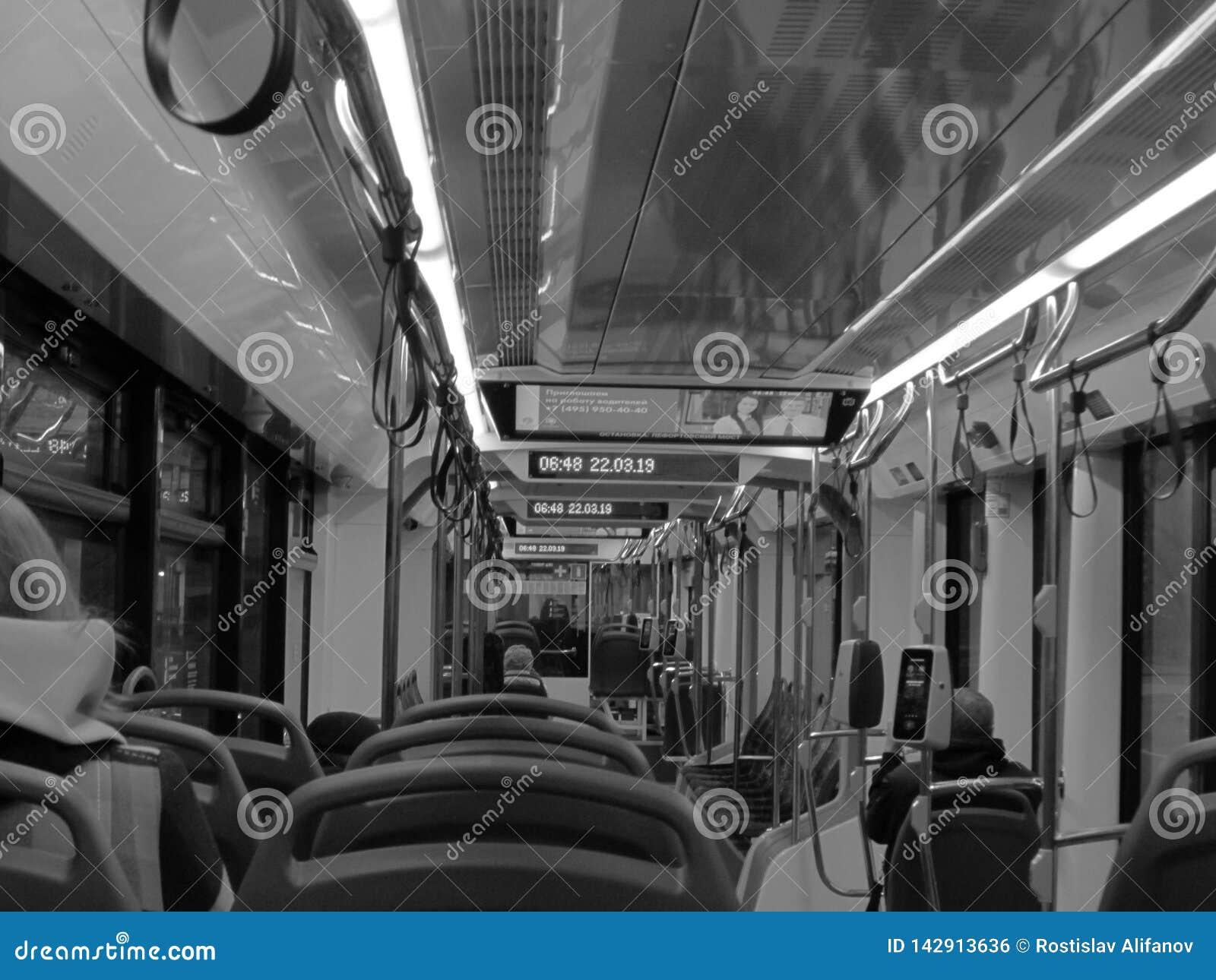 Εσωτερικό του τραμ σε B/W