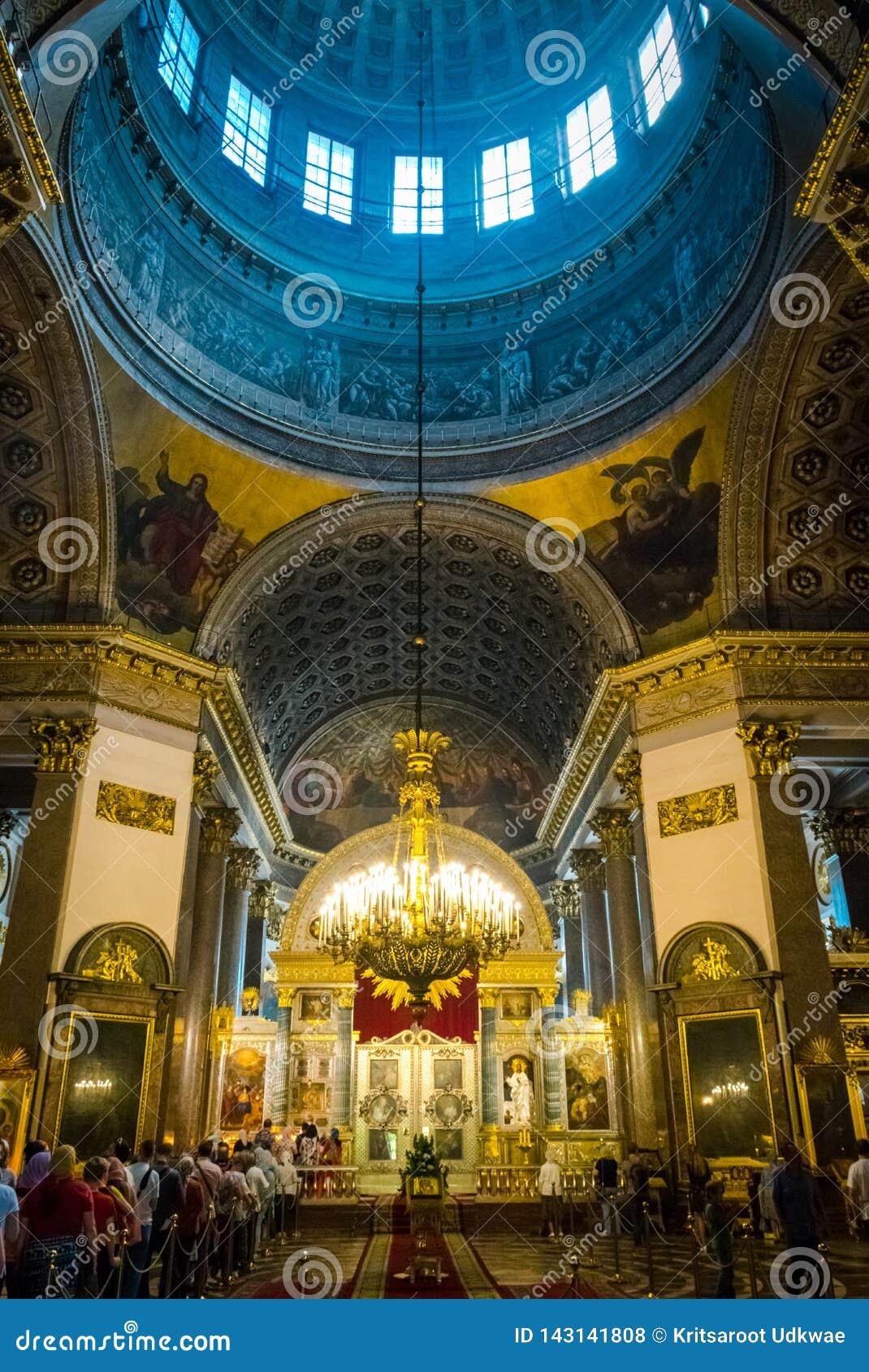 Εσωτερικό του Kazan καθεδρικού ναού, Αγία Πετρούπολη, Ρωσία