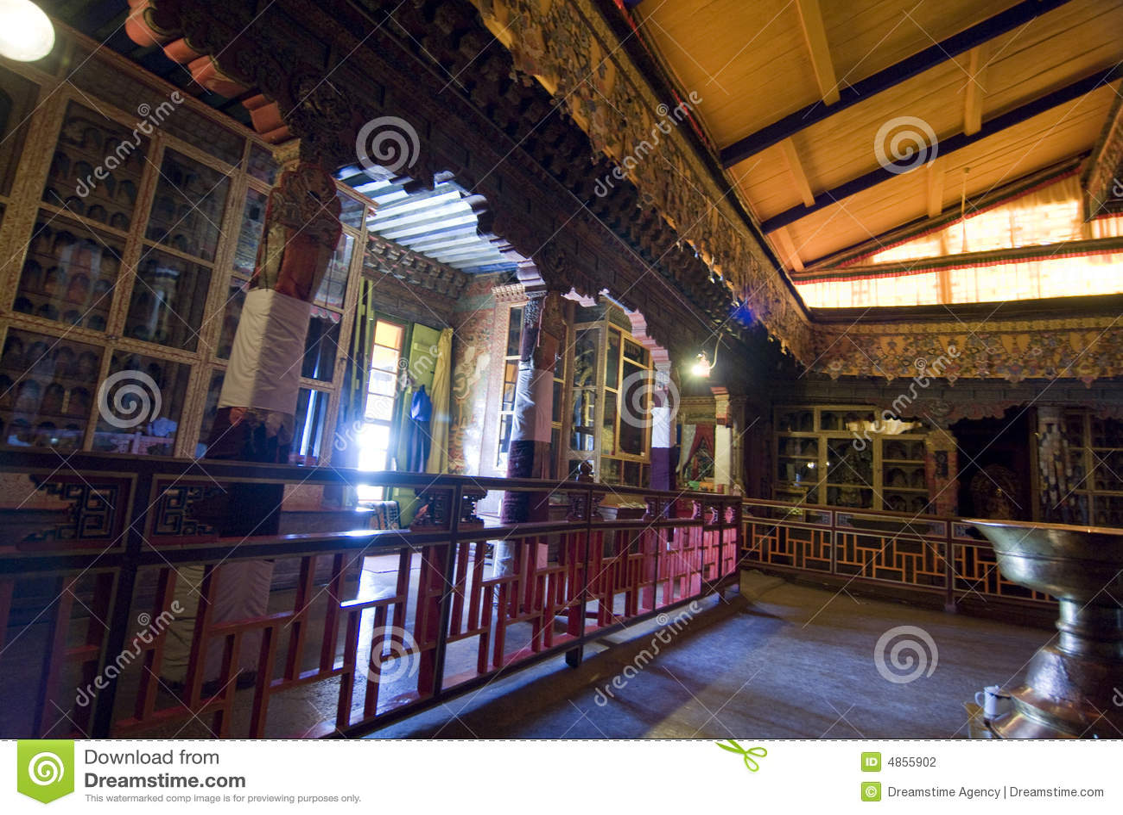 εσωτερικό potala παλατιών