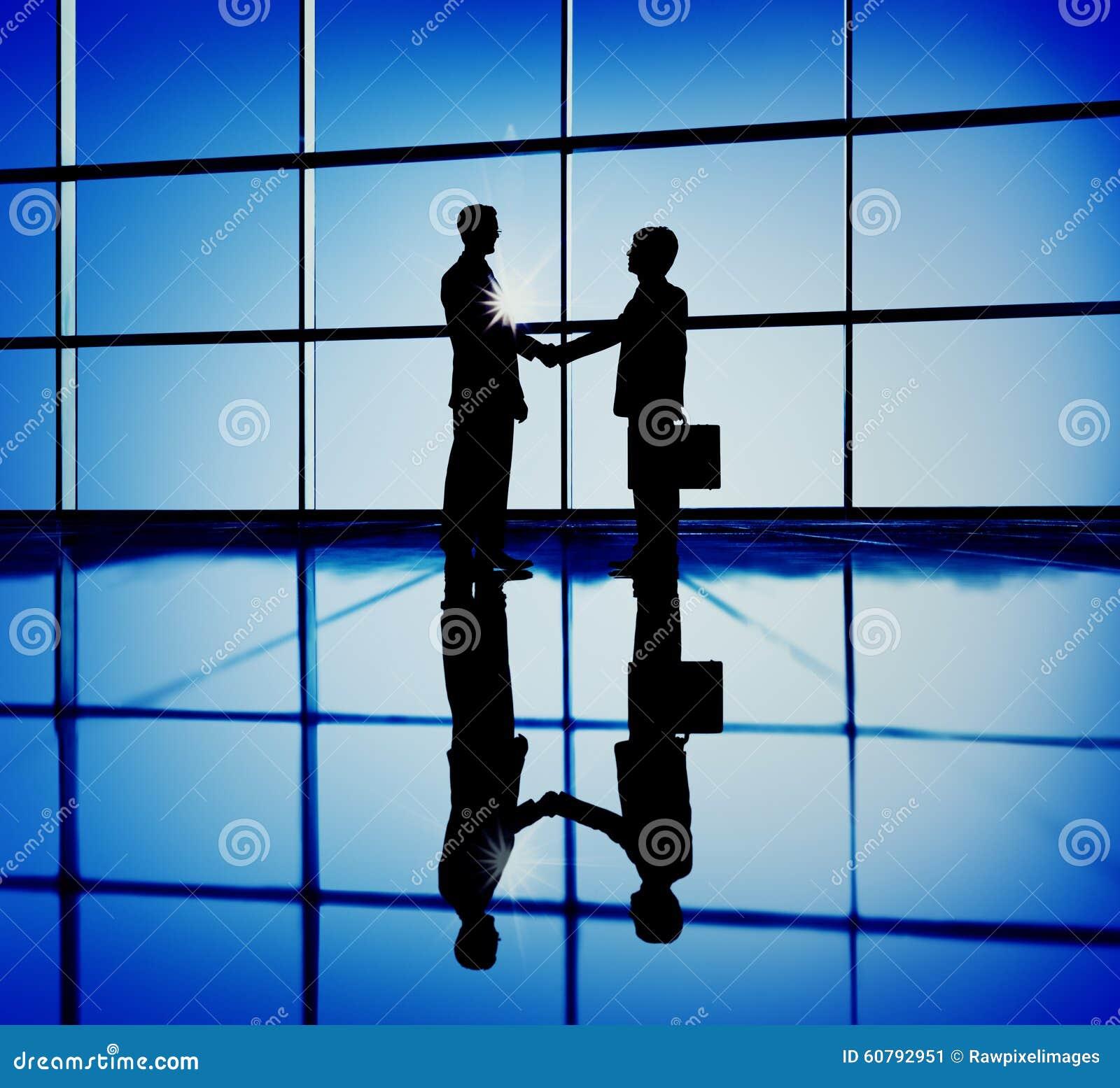 Εταιρική επιχειρησιακή έννοια συμβάσεων χειραψίας επιχειρηματιών