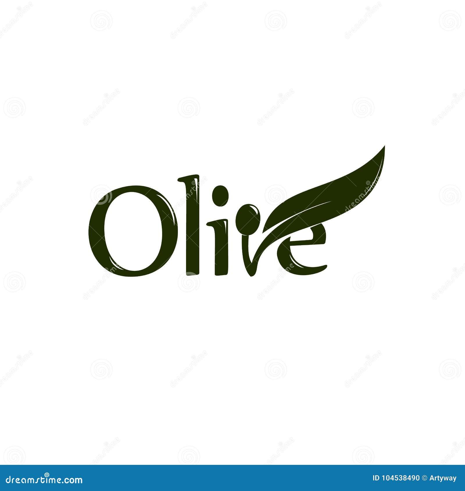 Ετικέτα ελαιολάδου, οργανικό προϊόν Διανυσματικό κλαδί ελιάς με το φύλλο και drupe, διανυσματικό λογότυπο