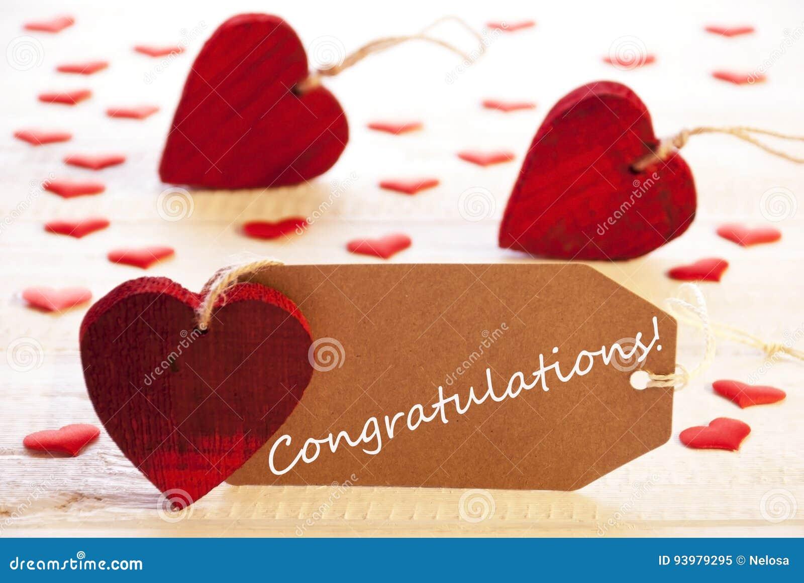 Ετικέτα με πολλούς κόκκινη καρδιά, συγχαρητήρια κειμένων