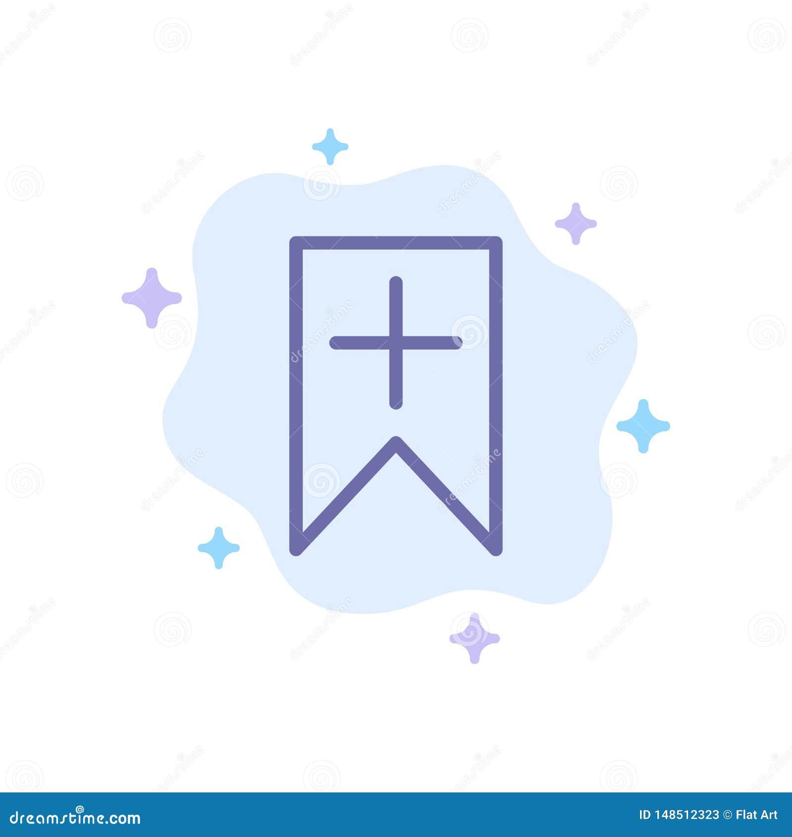 Ετικέττα, συν, διεπαφή, μπλε εικονίδιο χρηστών στο αφηρημένο υπόβαθρο σύννεφων