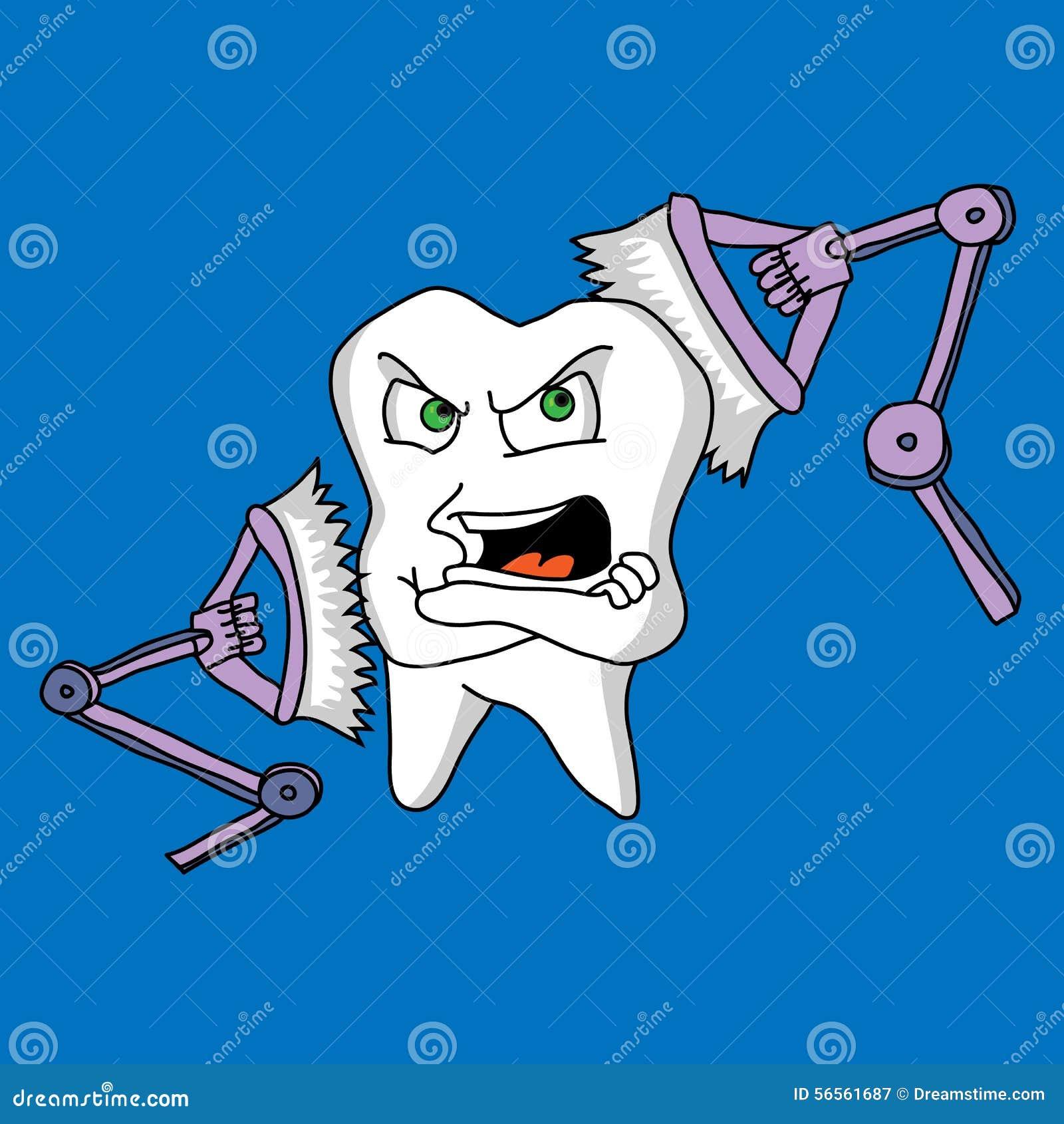 Download Ευαισθησία δοντιών σε μια οδοντόβουρτσα Διανυσματική απεικόνιση - εικονογραφία από έκθεση, πόνος: 56561687