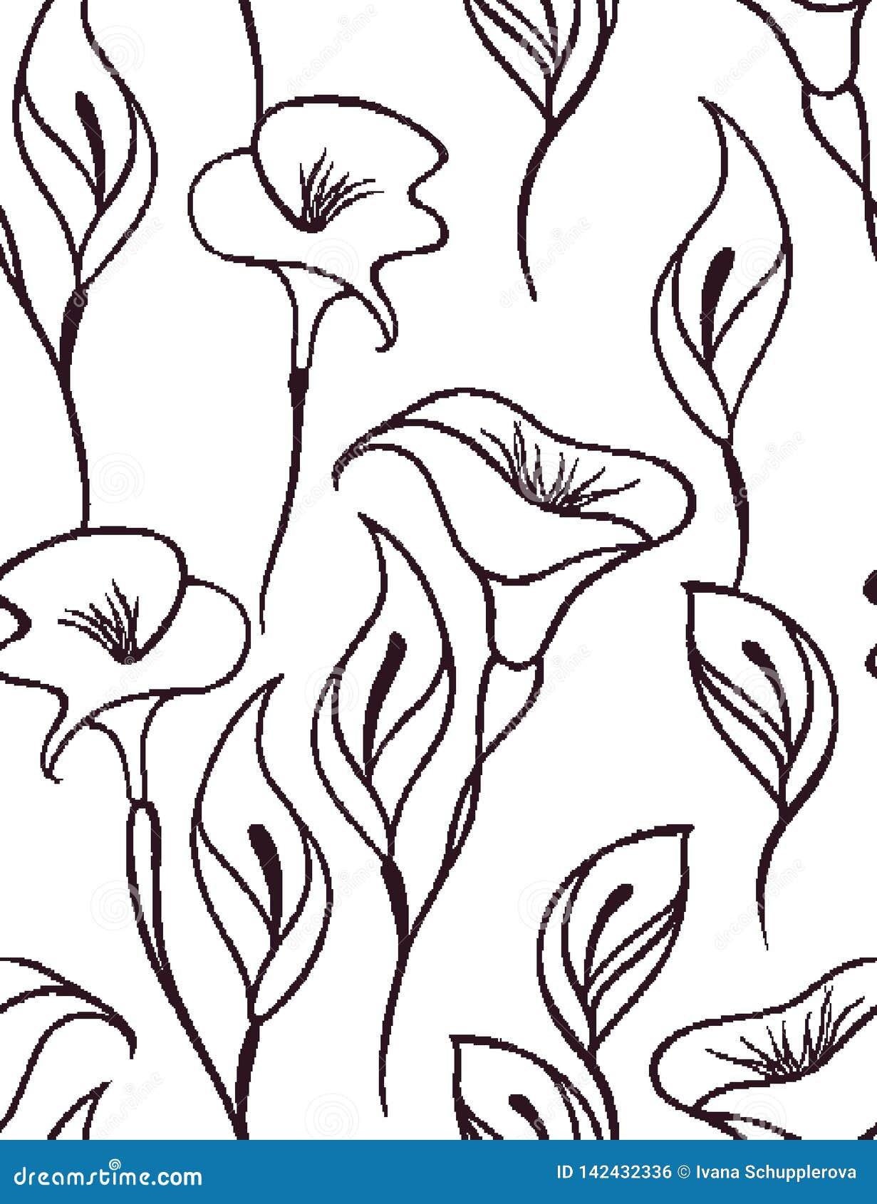 Ευγενές floral άνευ ραφής σχέδιο με ένα άσπρο υπόβαθρο