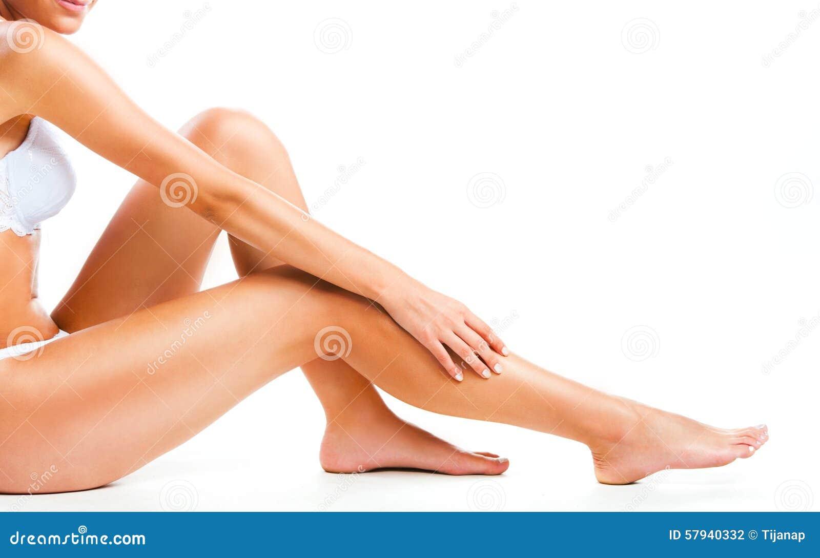 λευκή γυναίκα ποδιών