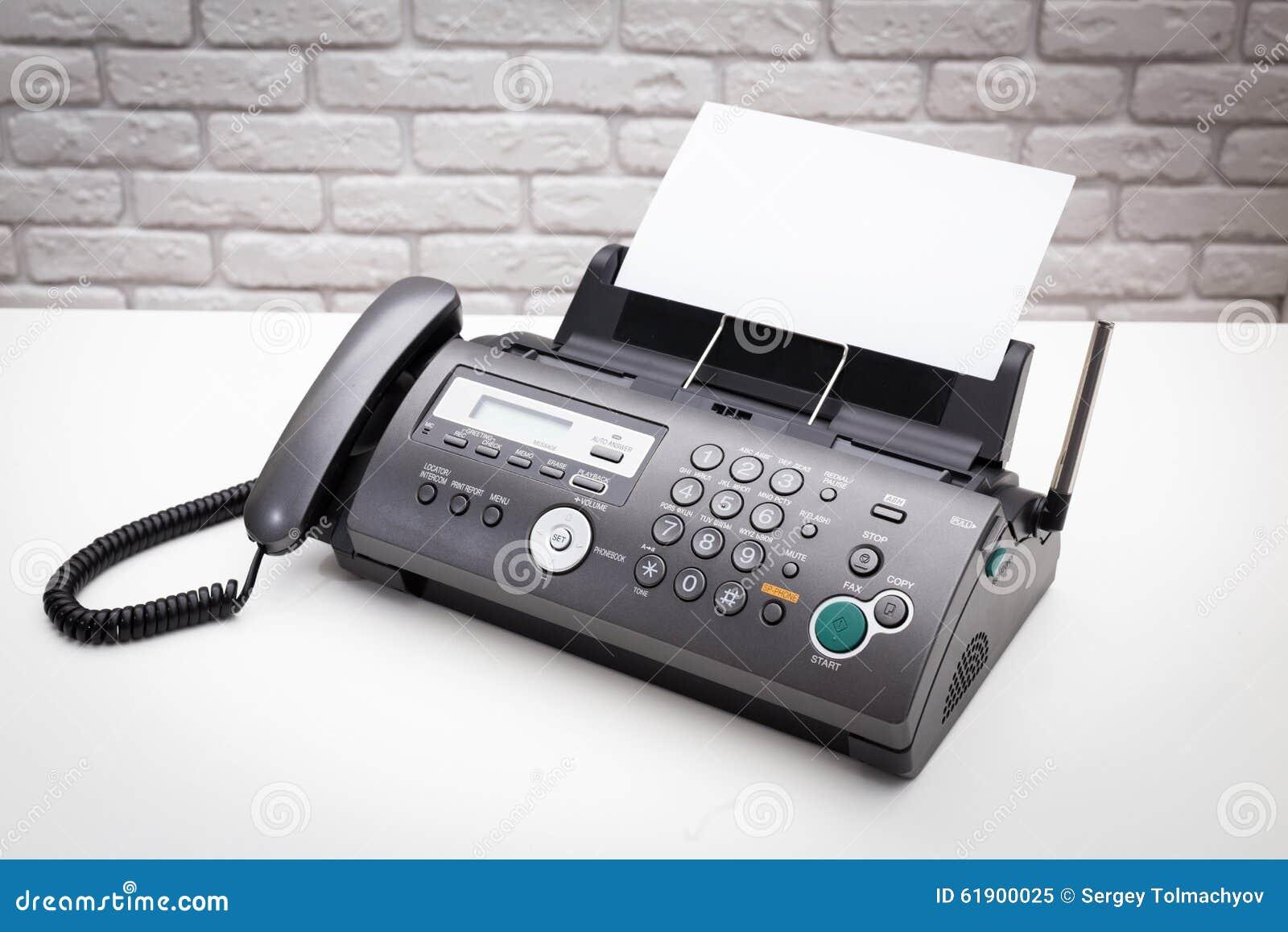 λευκό μηχανών απεικόνισης fax ανασκόπησης