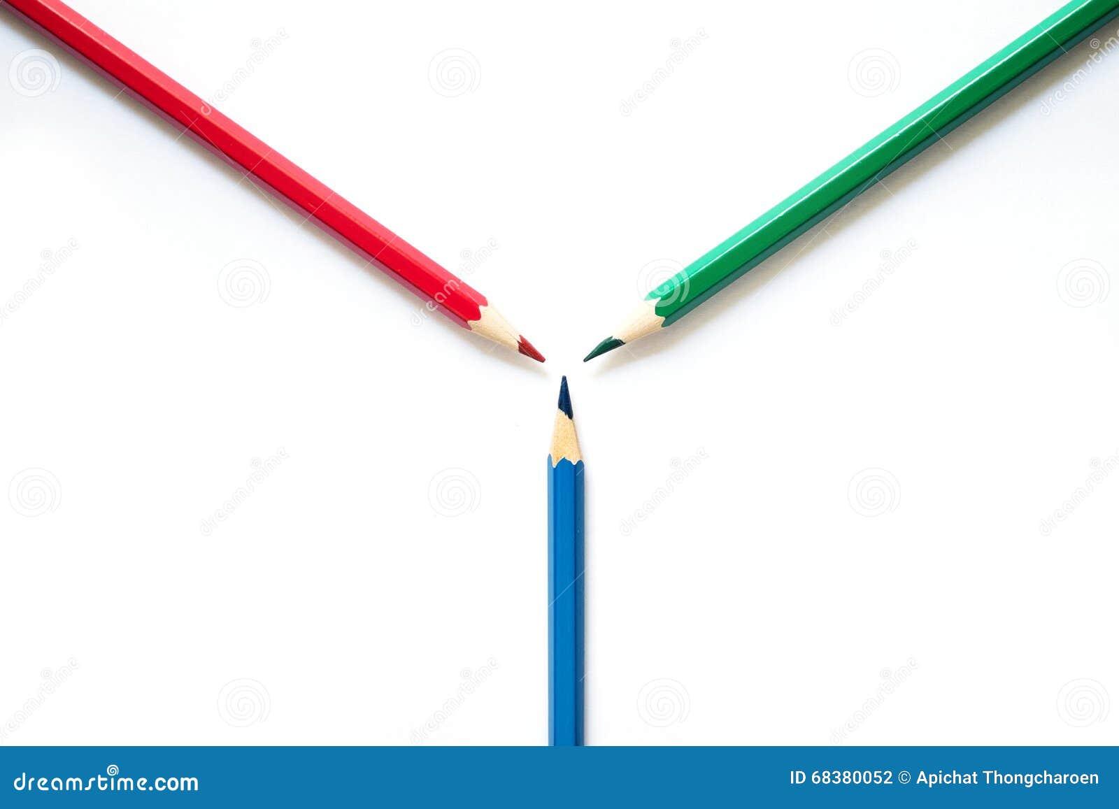 λευκό μολυβιών χρώματος ανασκόπησης