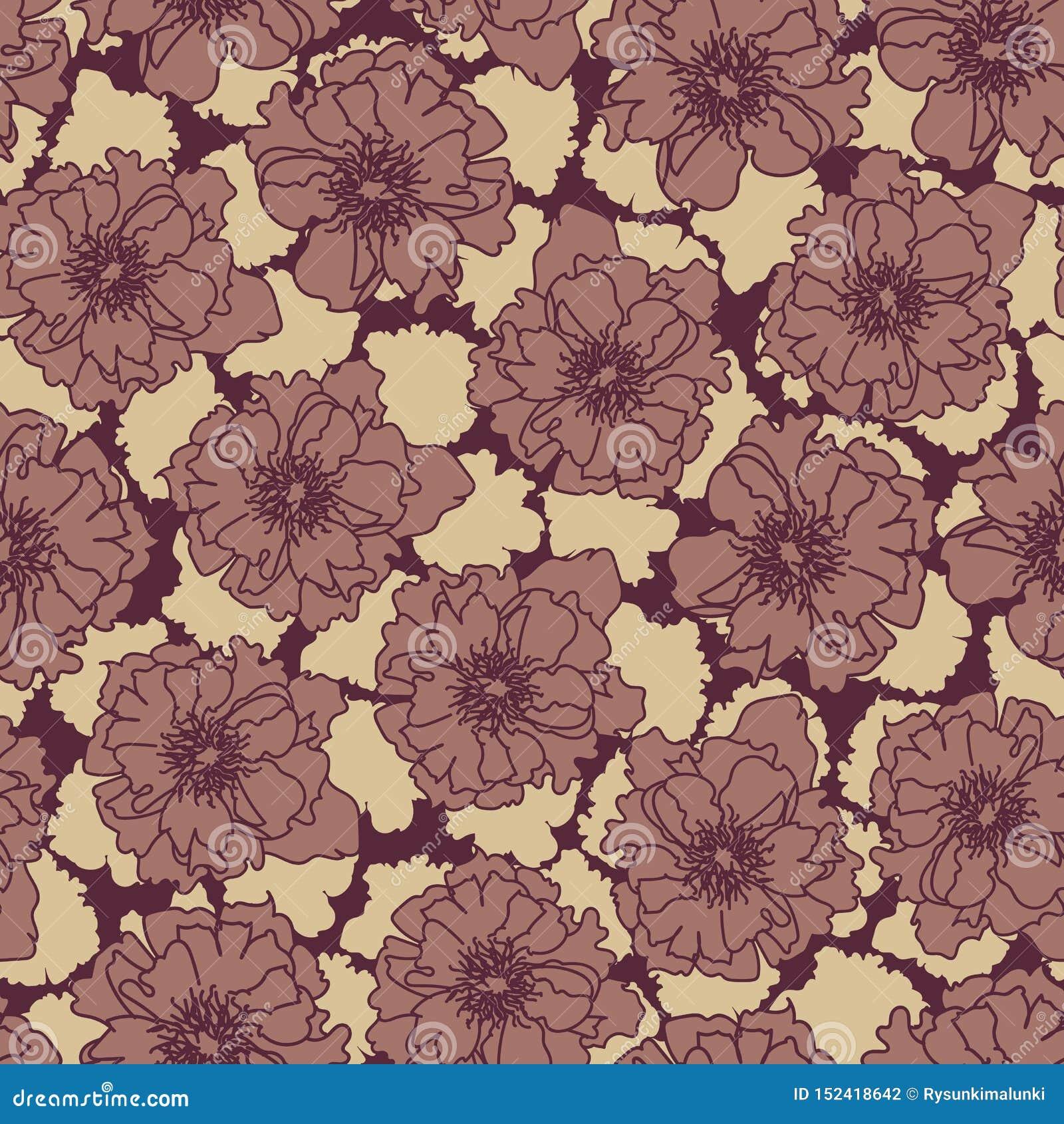 Ευμετάβλητα άνευ ραφής διανυσματικά σχέδια με τα ροδαλά λουλούδια