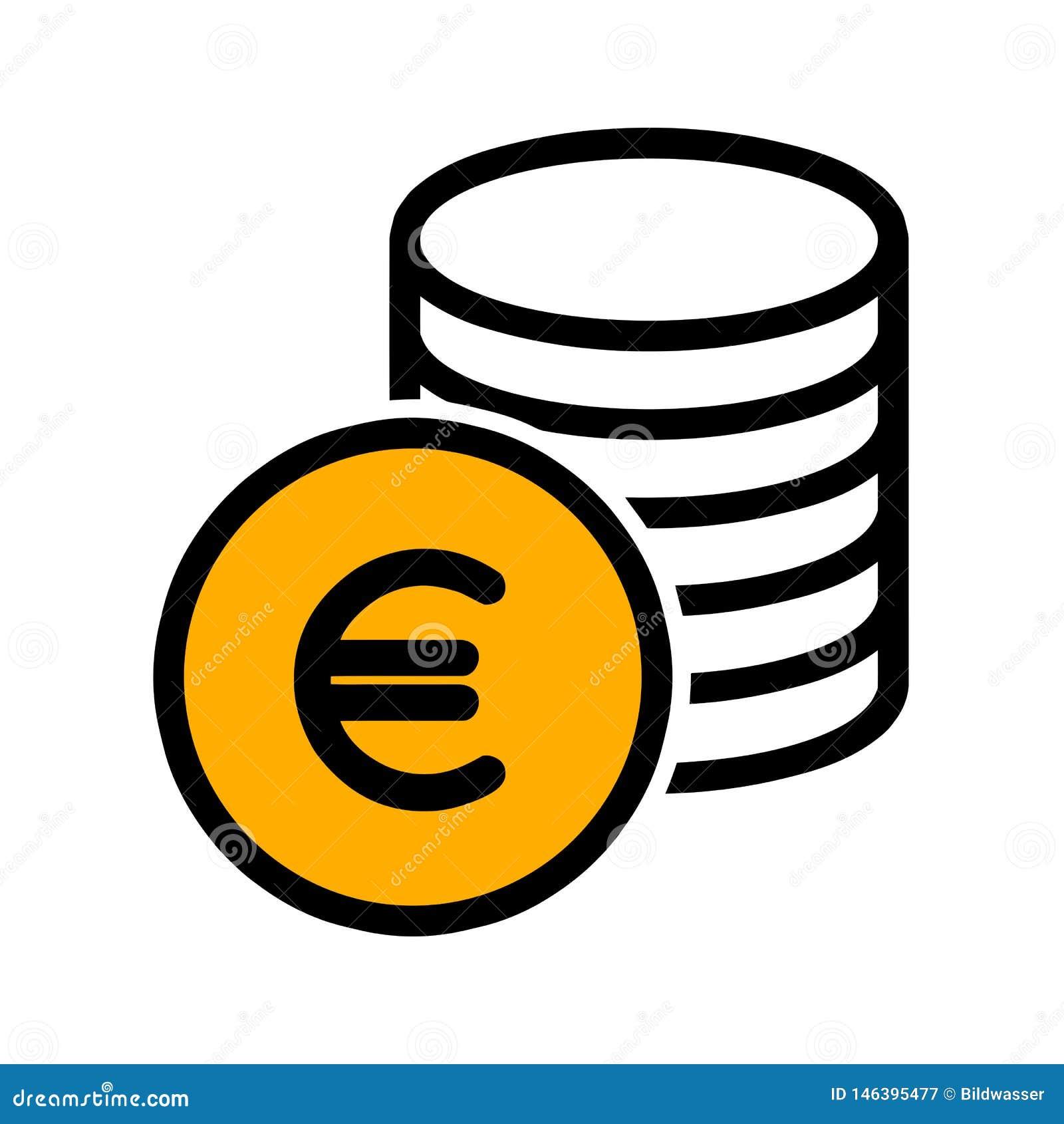 Ευρο- εικονίδιο νομισμάτων μετρητών r