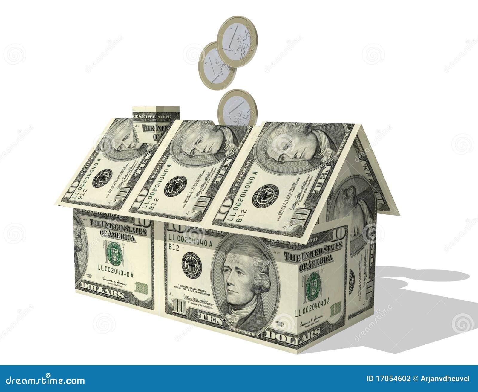ευρο- σπίτι πλήρωσης δολ&a