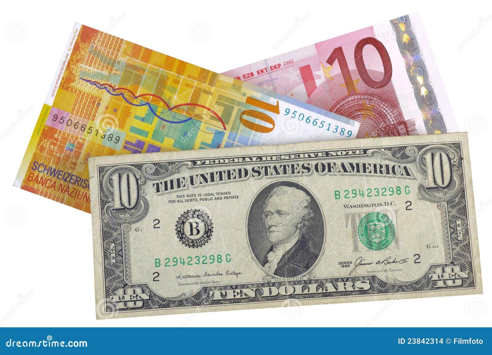 ευρο- φράγκο δολαρίων