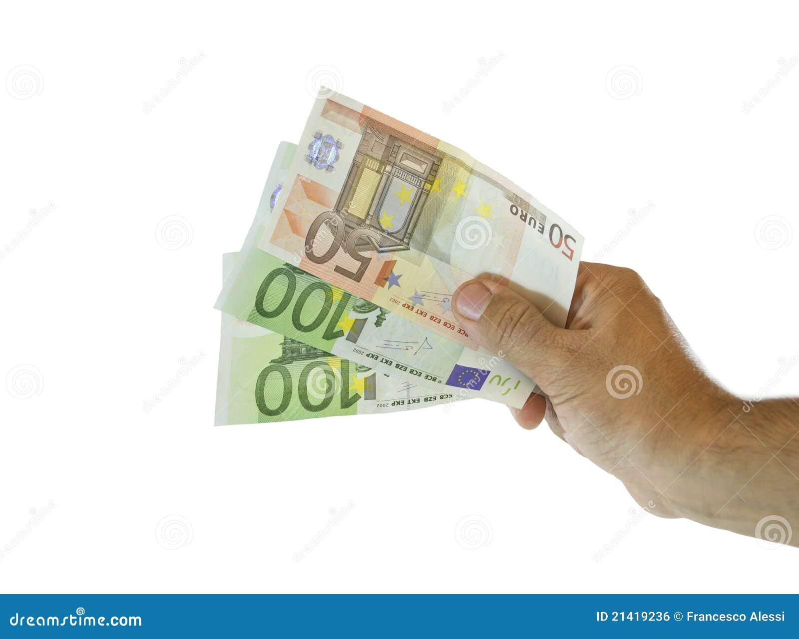 ευρο- χέρι τραπεζογραμμα