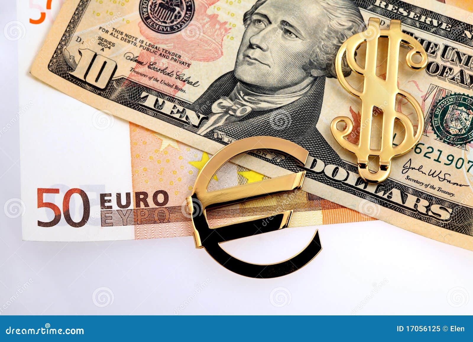 ευρο- χρήματα δολαρίων