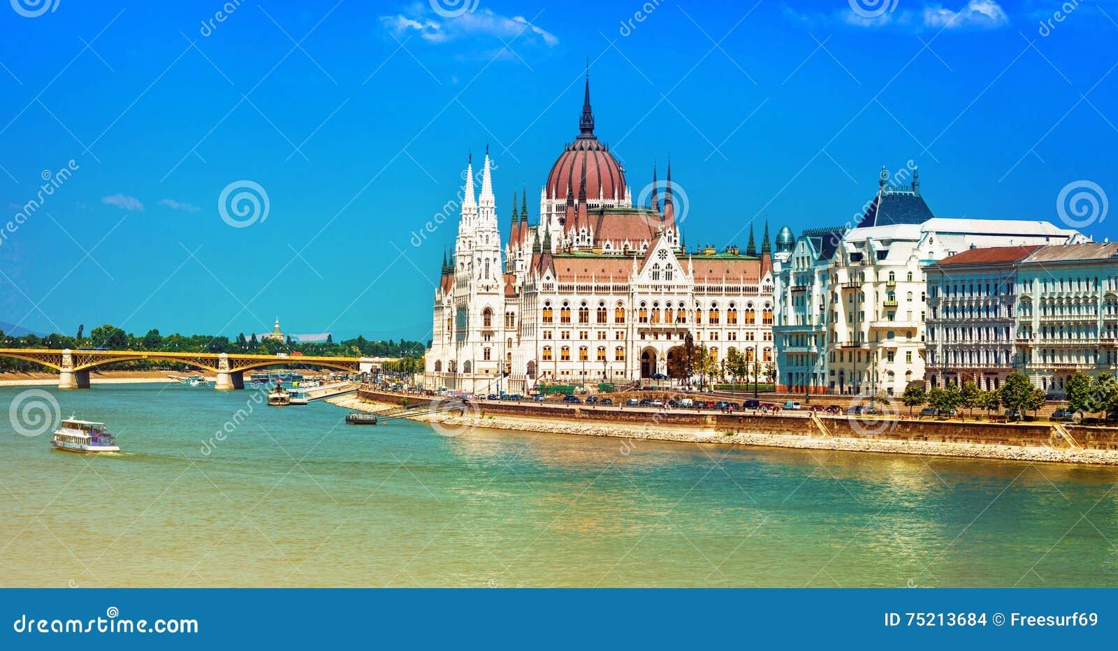 Ευρωπαϊκά ορόσημα - το όμορφο Κοινοβούλιο στη Βουδαπέστη, Ουγγαρία