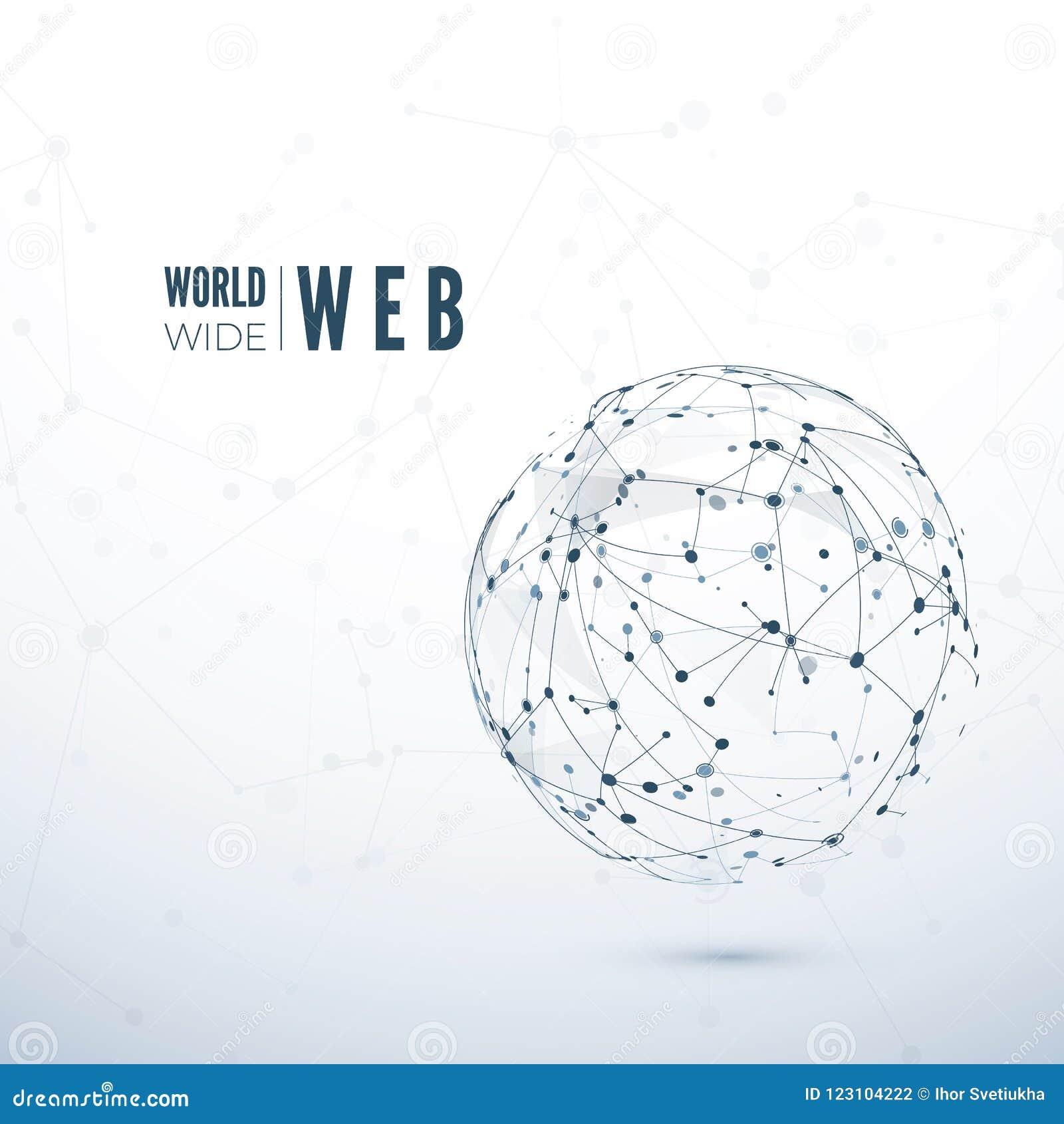 ευρύς κόσμος Ιστού Αφηρημένη σύσταση του παγκόσμιου δικτύου επίσης corel σύρετε το διάνυσμα απεικόνισης