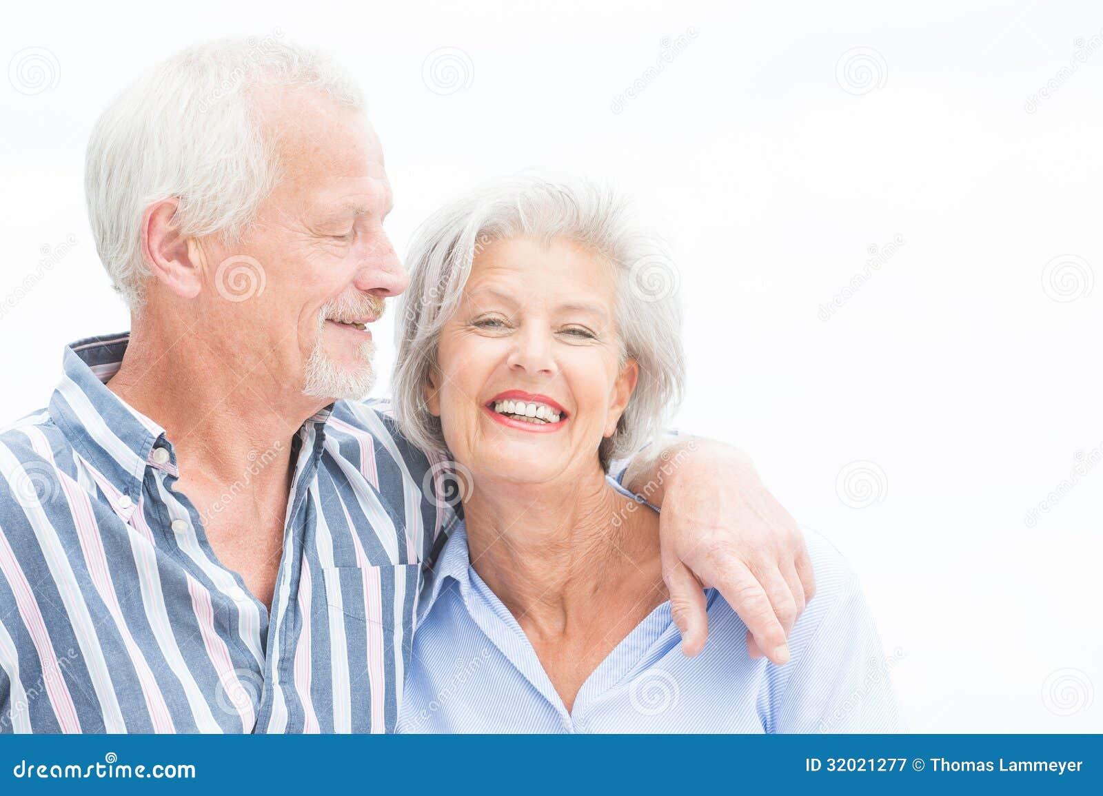 Ευτυχές ανώτερο ζεύγος