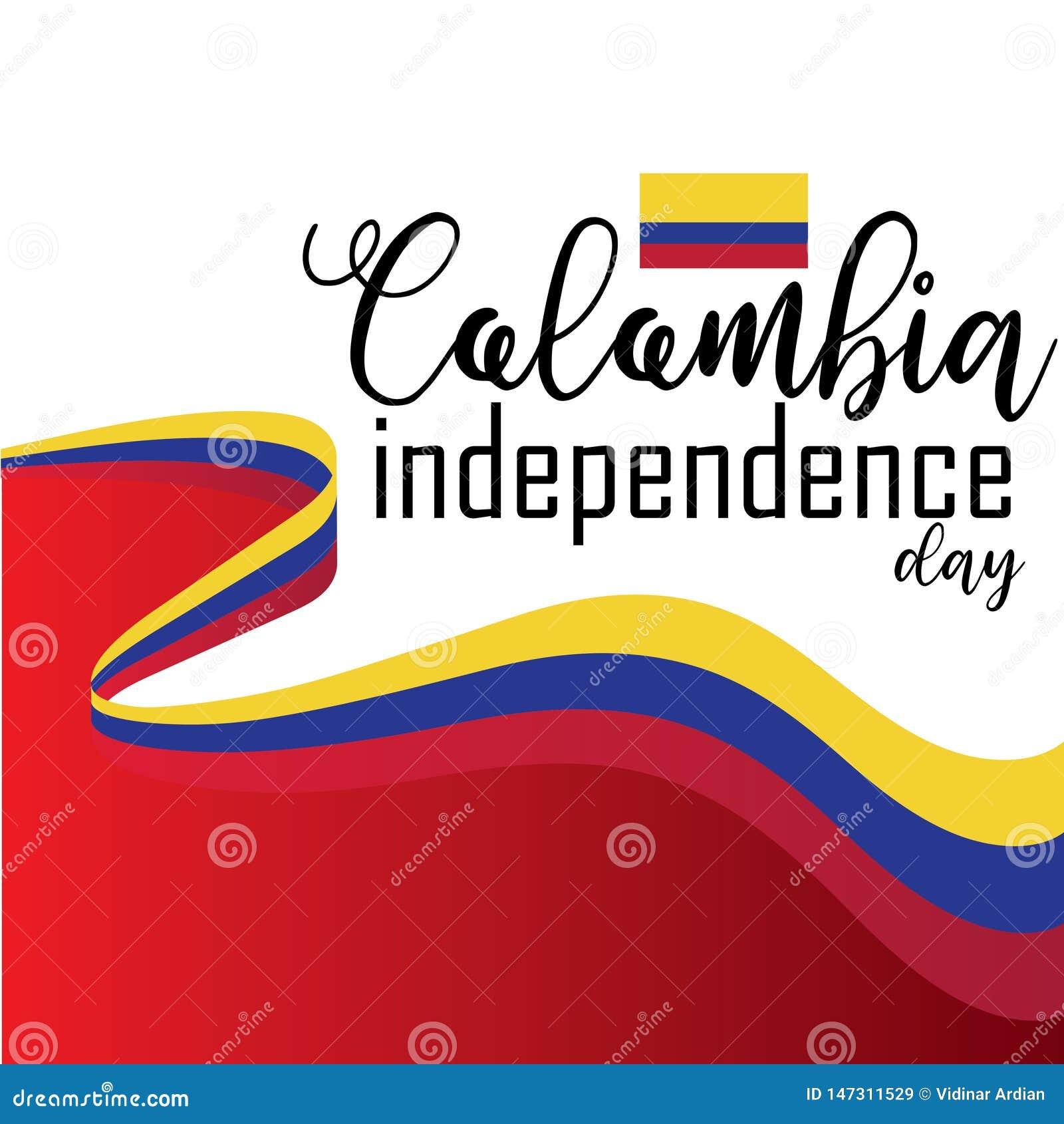 Ευτυχές διάνυσμα ημέρας της ανεξαρτησίας της Κολομβίας