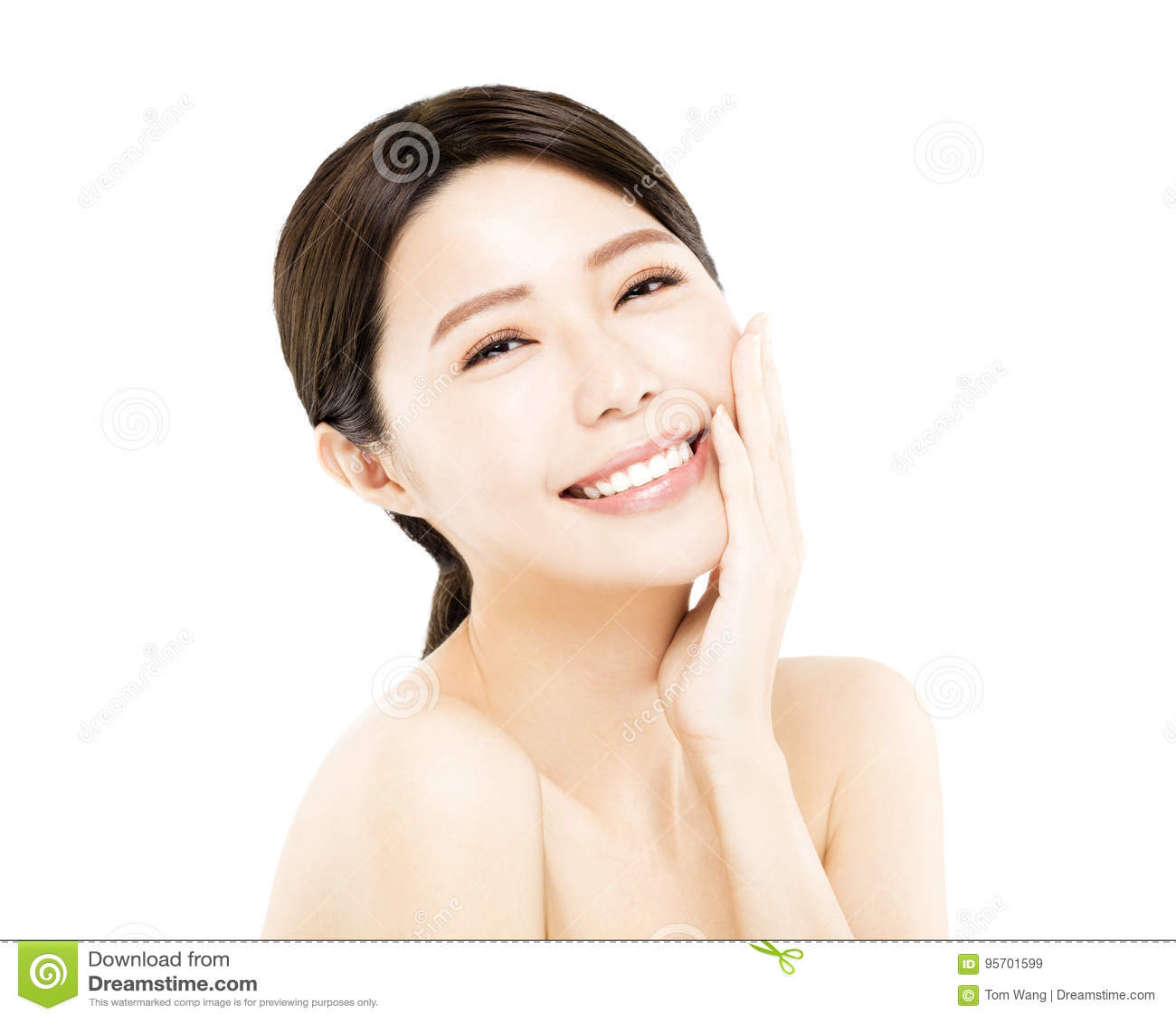 Ευτυχές νέο πρόσωπο ομορφιάς γυναικών