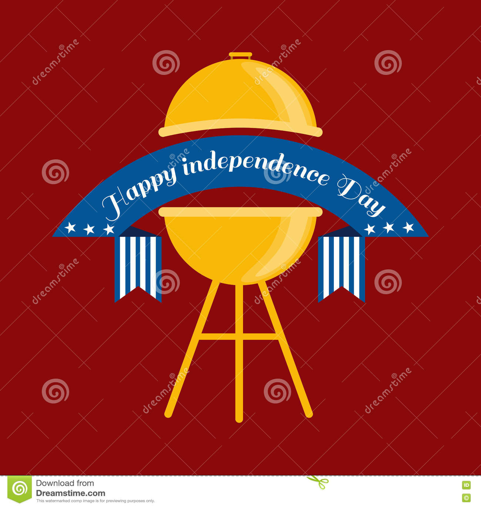 Ευτυχές τέταρτο Ιουλίου, διανυσματικό της illustraionης σχεδίου ημέρας της ανεξαρτησίας