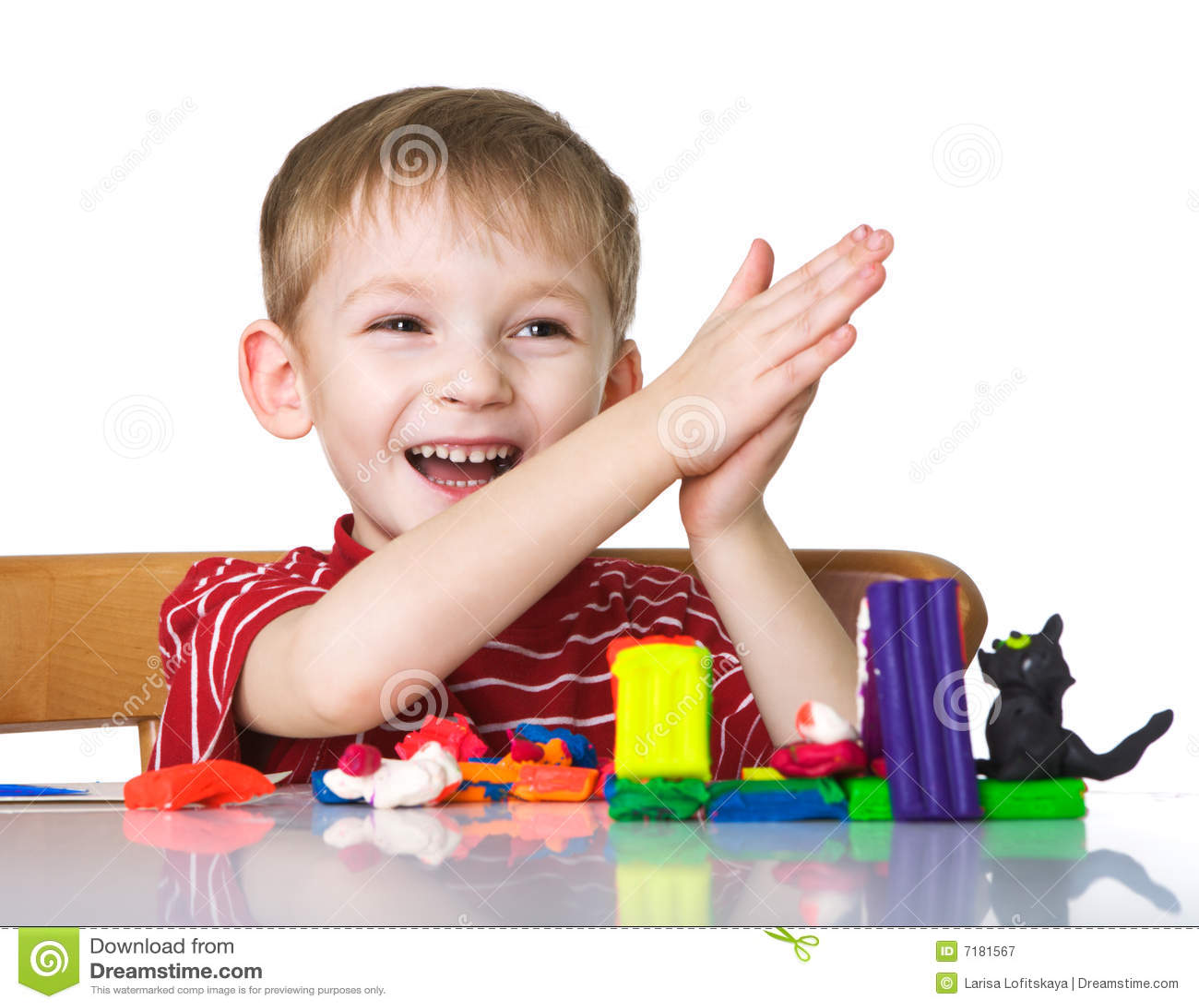 ευτυχές plasticine παιδιών