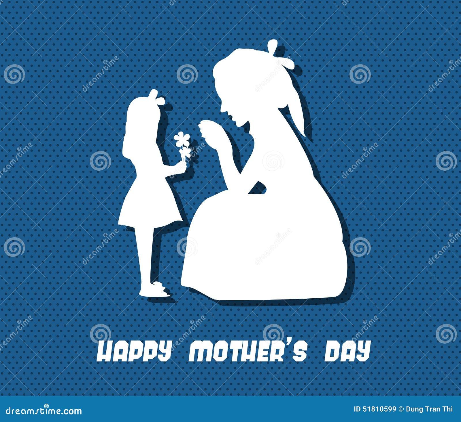 Ευτυχής απεικόνιση εορτασμού ημέρας μητέρων