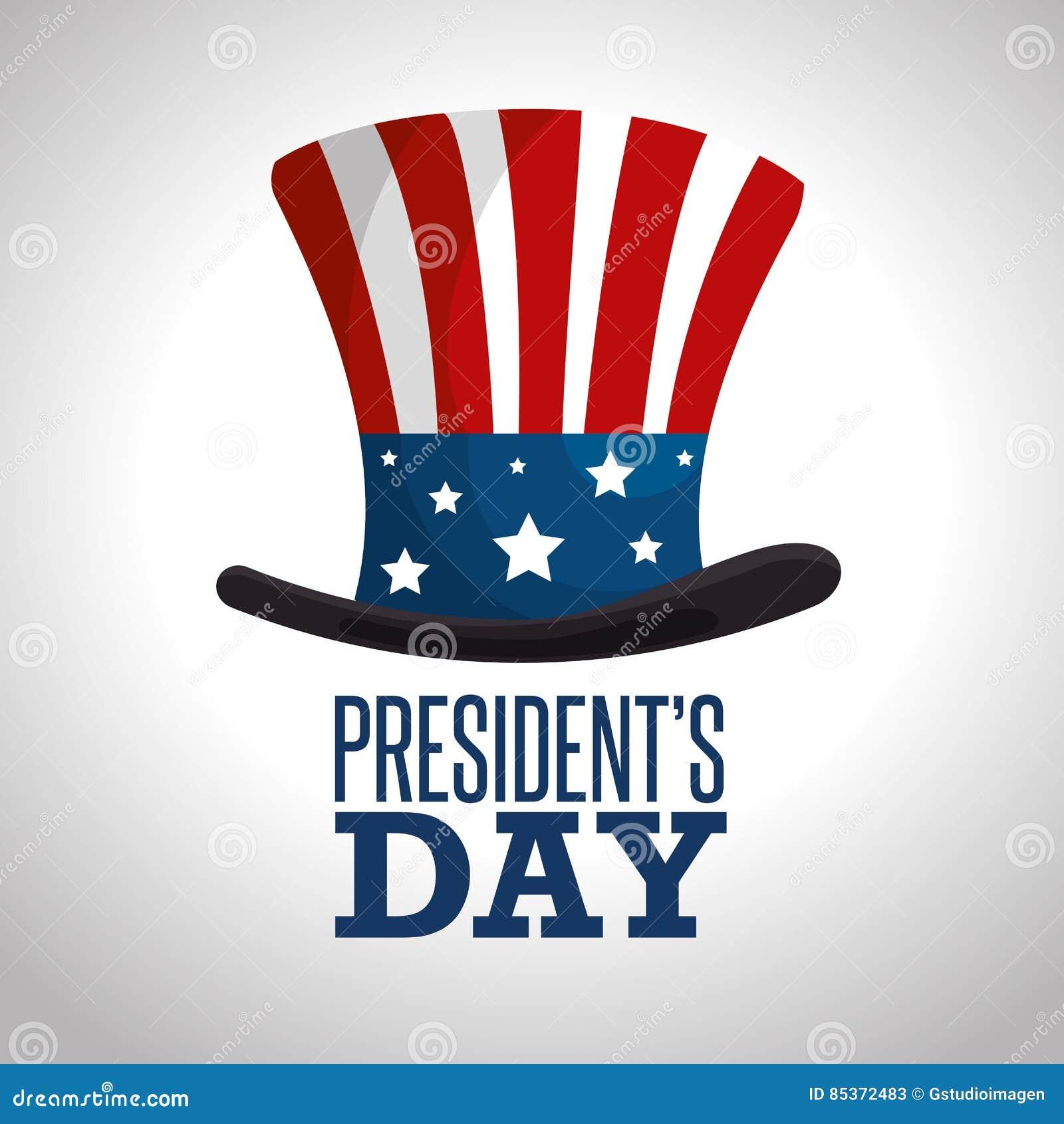 Ευτυχής αφίσα Προέδρων Day
