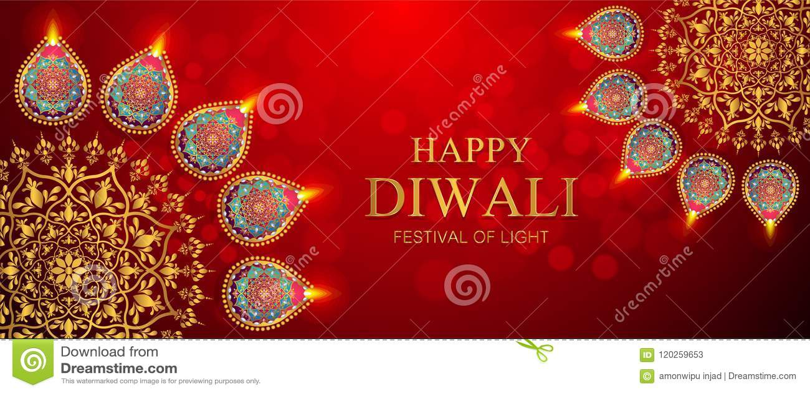 Ευτυχής κάρτα φεστιβάλ Diwali