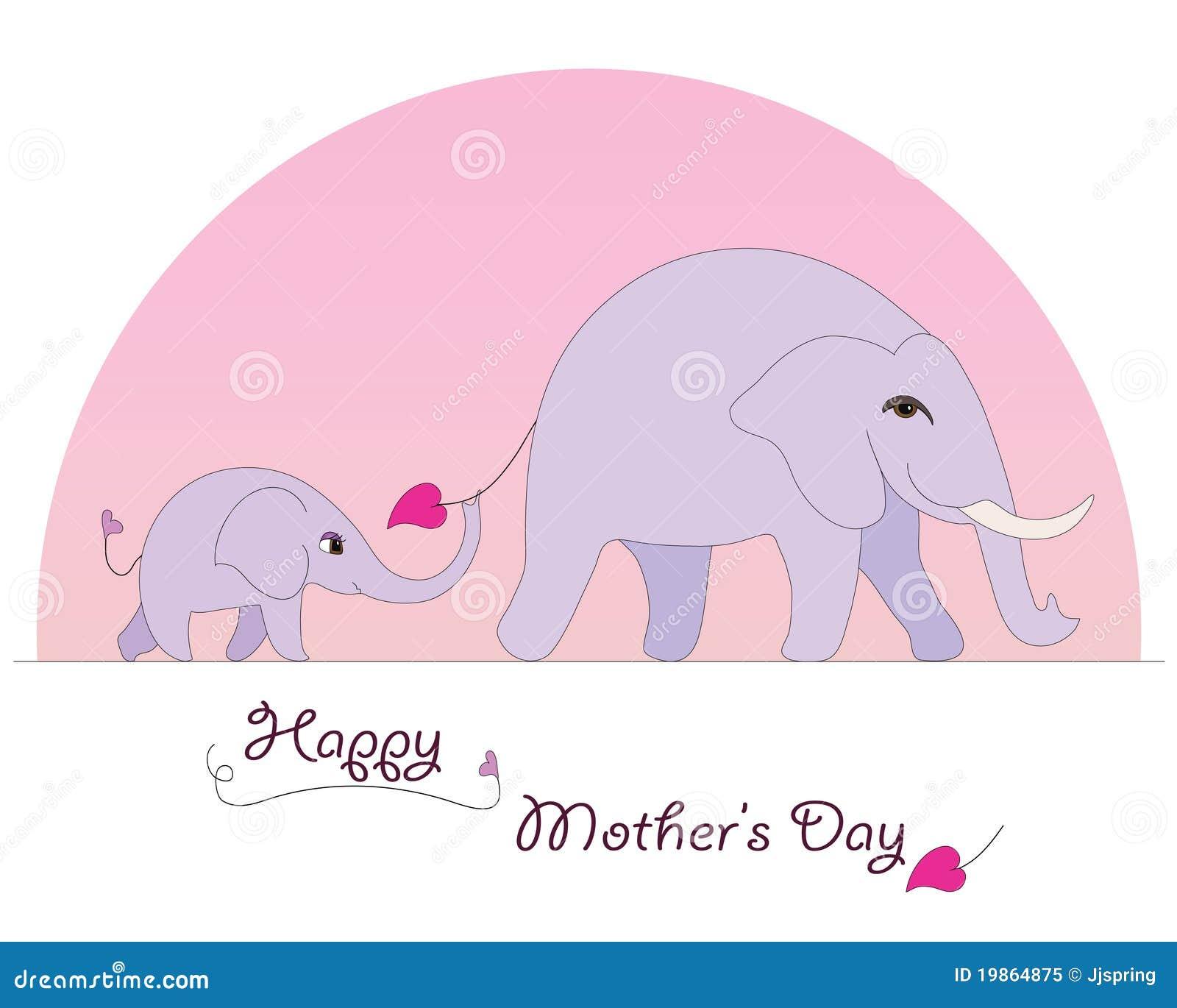 ευτυχής μητέρα s ελεφάντων