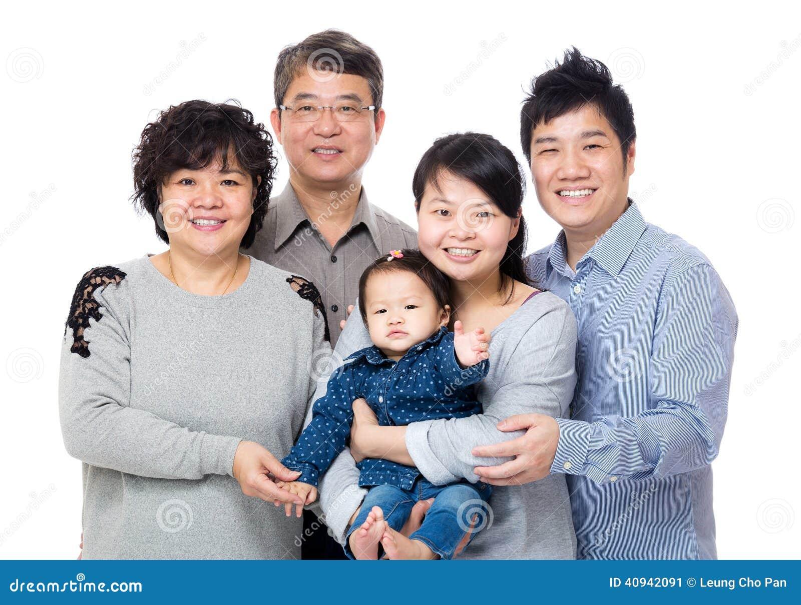 Ευτυχής οικογένεια της Ασίας