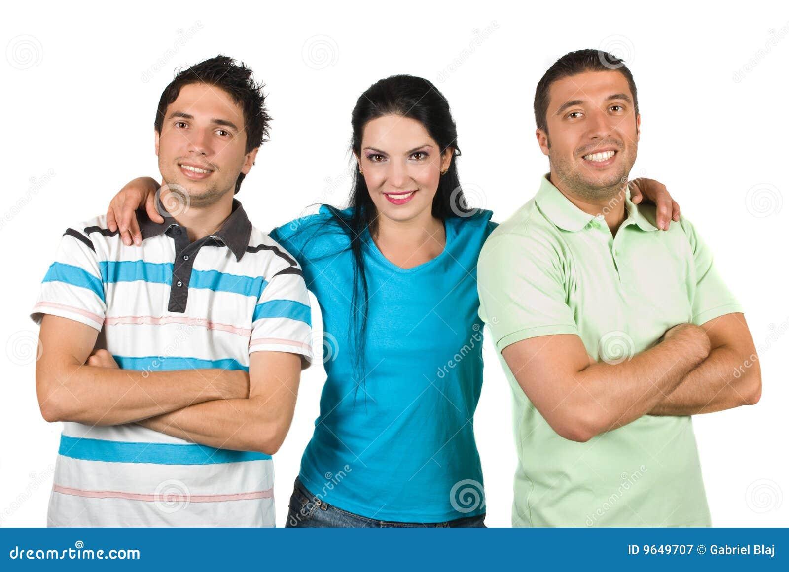 Ευτυχής χαμογελώντας ομάδα φίλων