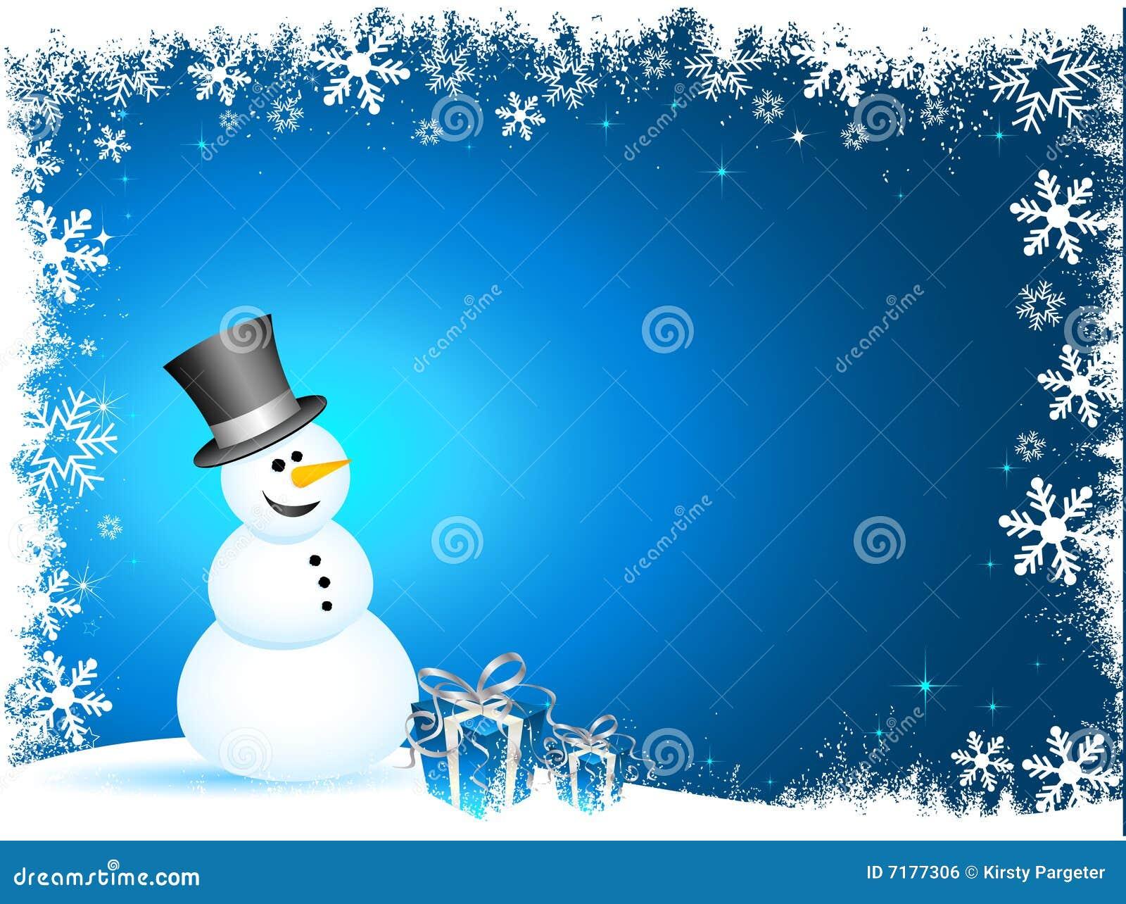 ευτυχής χιονάνθρωπος