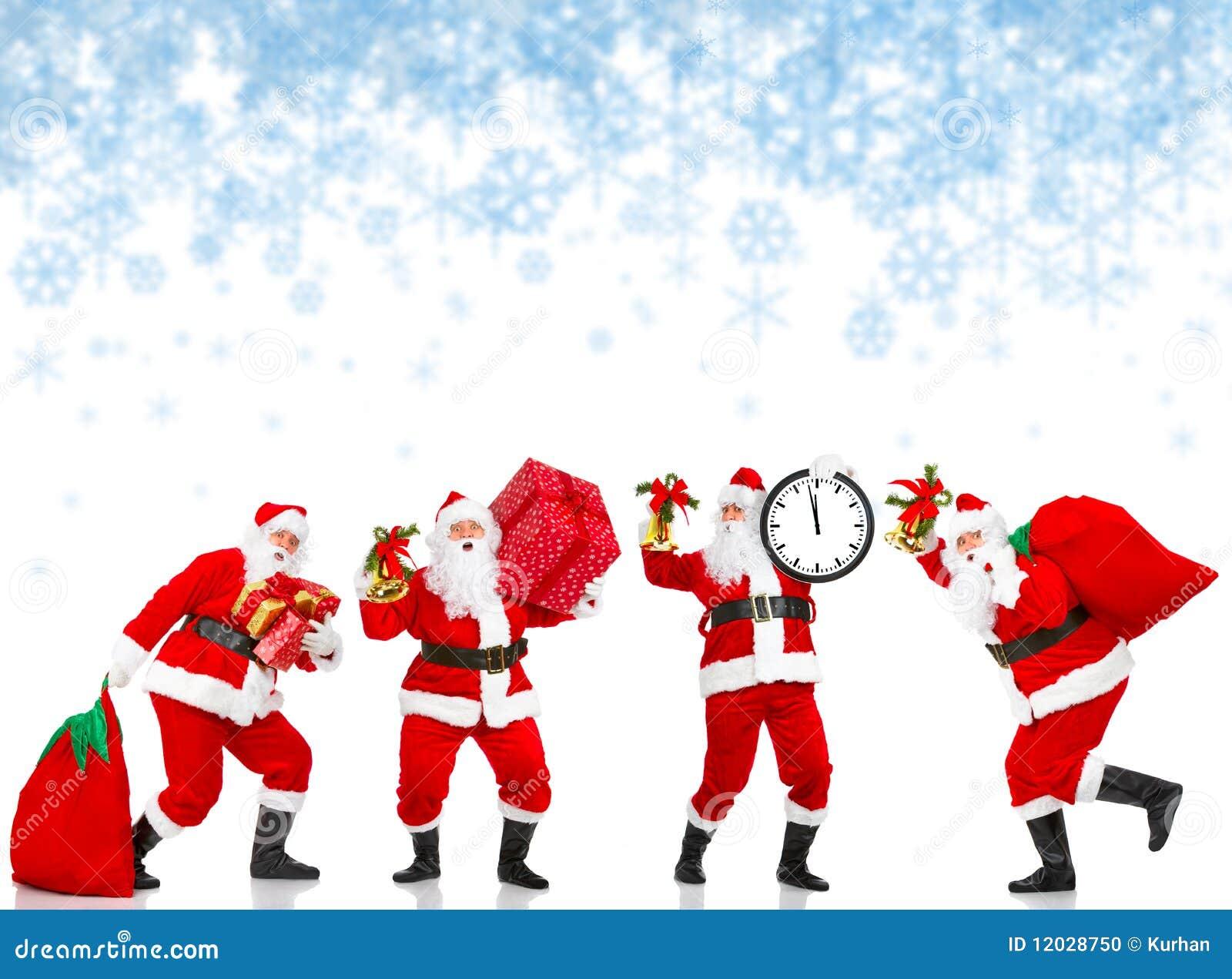 ευτυχή santas Χριστουγέννων