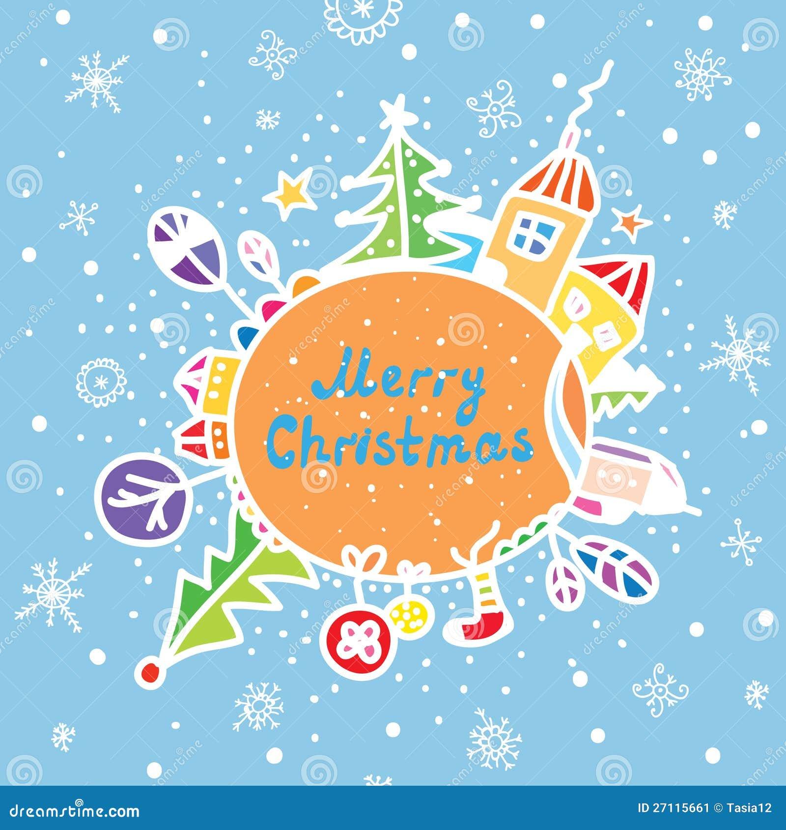 Ευχετήρια κάρτα Καλών Χριστουγέννων αστεία
