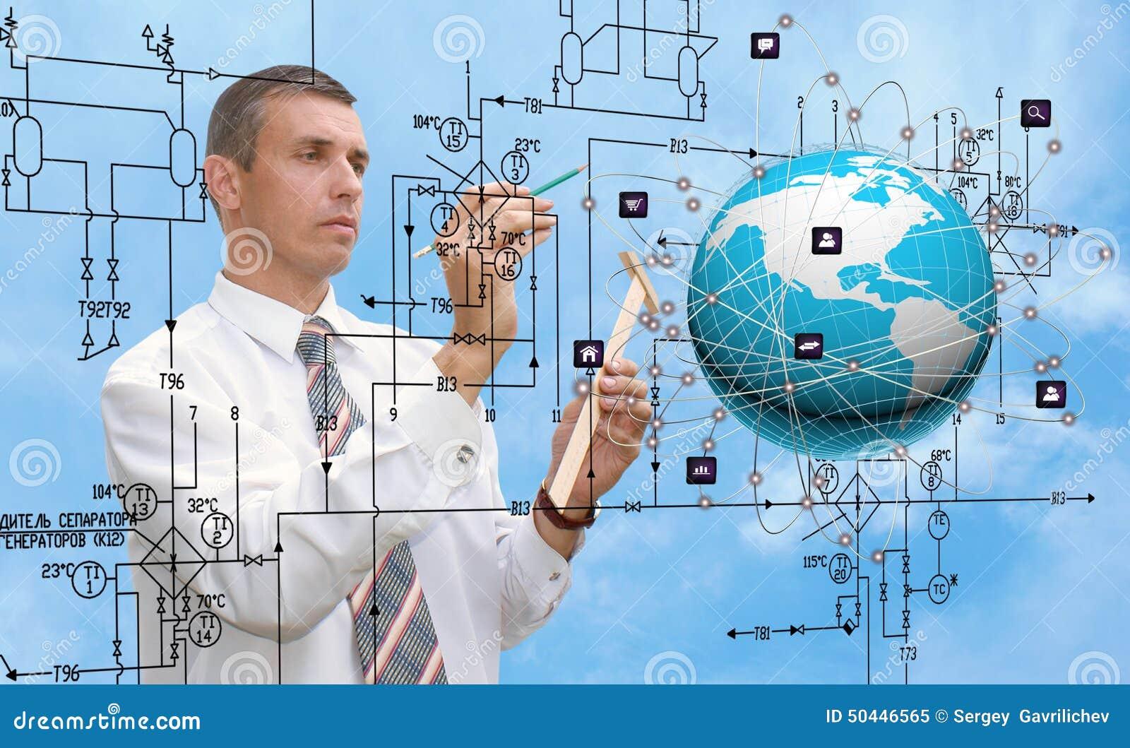 Εφαρμοσμένη μηχανική που σχεδιάζει το tecnology σύνδεσης