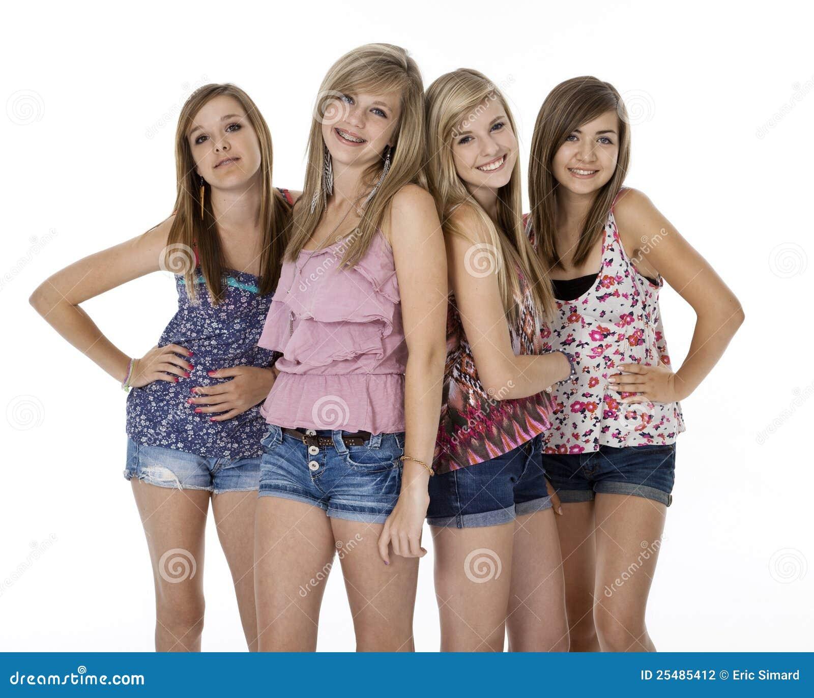 εφηβικό λευκό τεσσάρων κοριτσιών