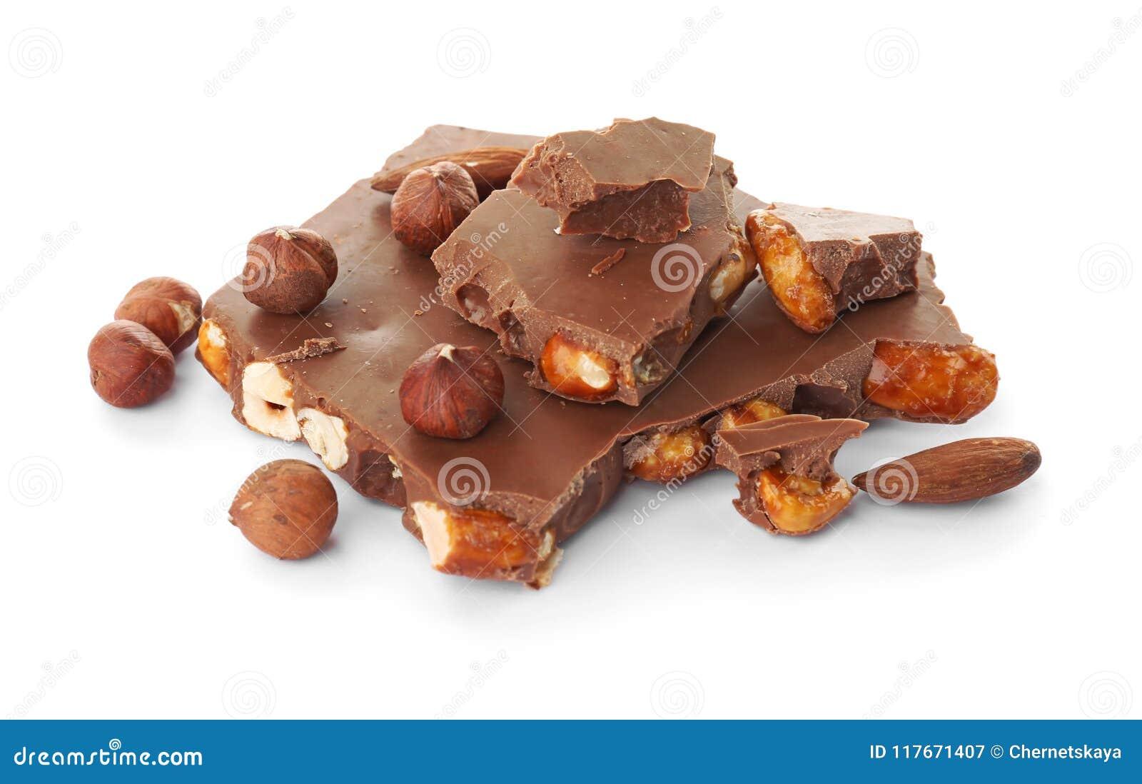 Εύγευστη σοκολάτα γάλακτος με τα καρύδια