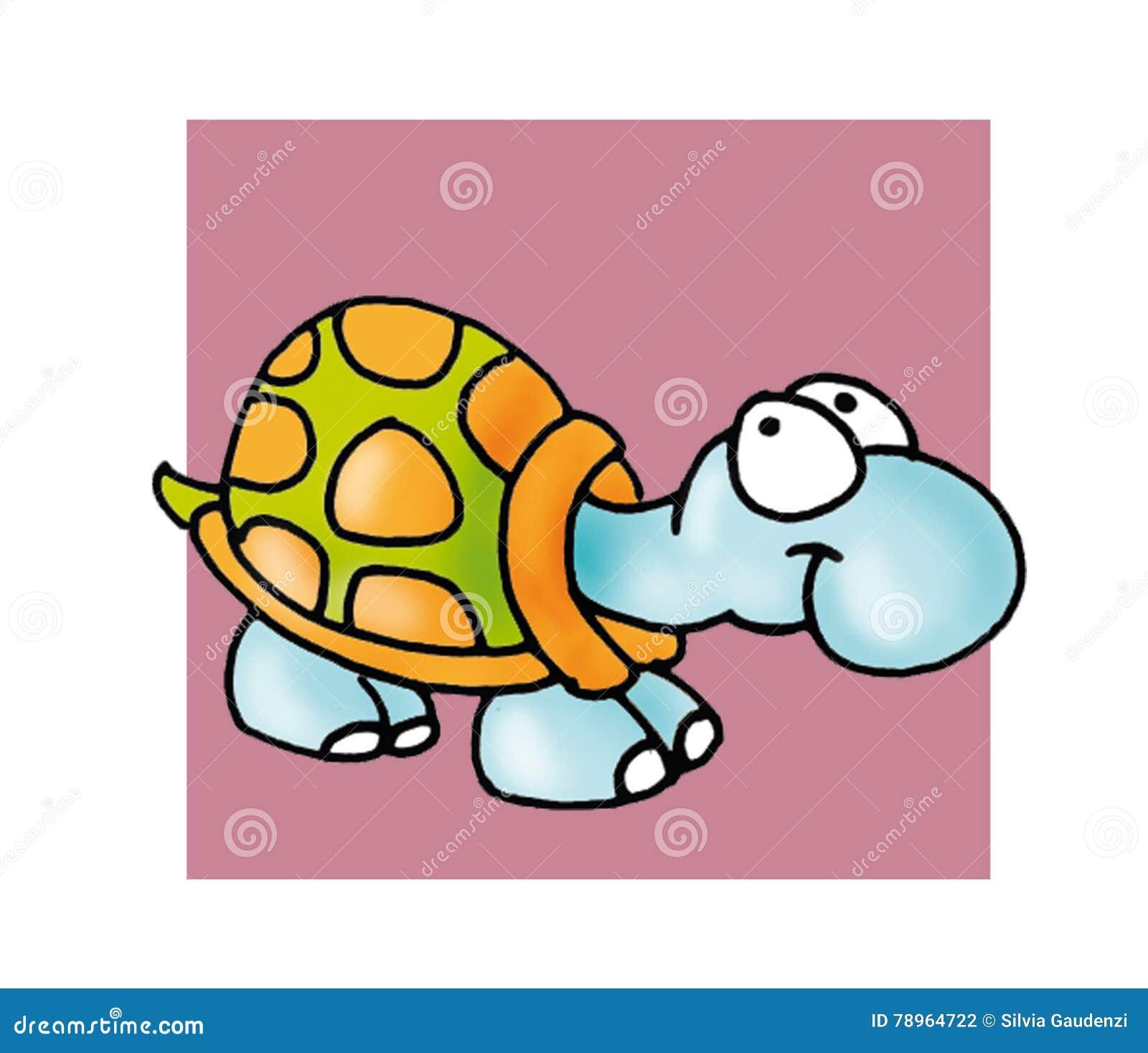 Ελάχιστα πέρα από το κουμπί ή το εικονίδιο ευθυμογράφων έγχρωμης εικονογράφησης χελωνών