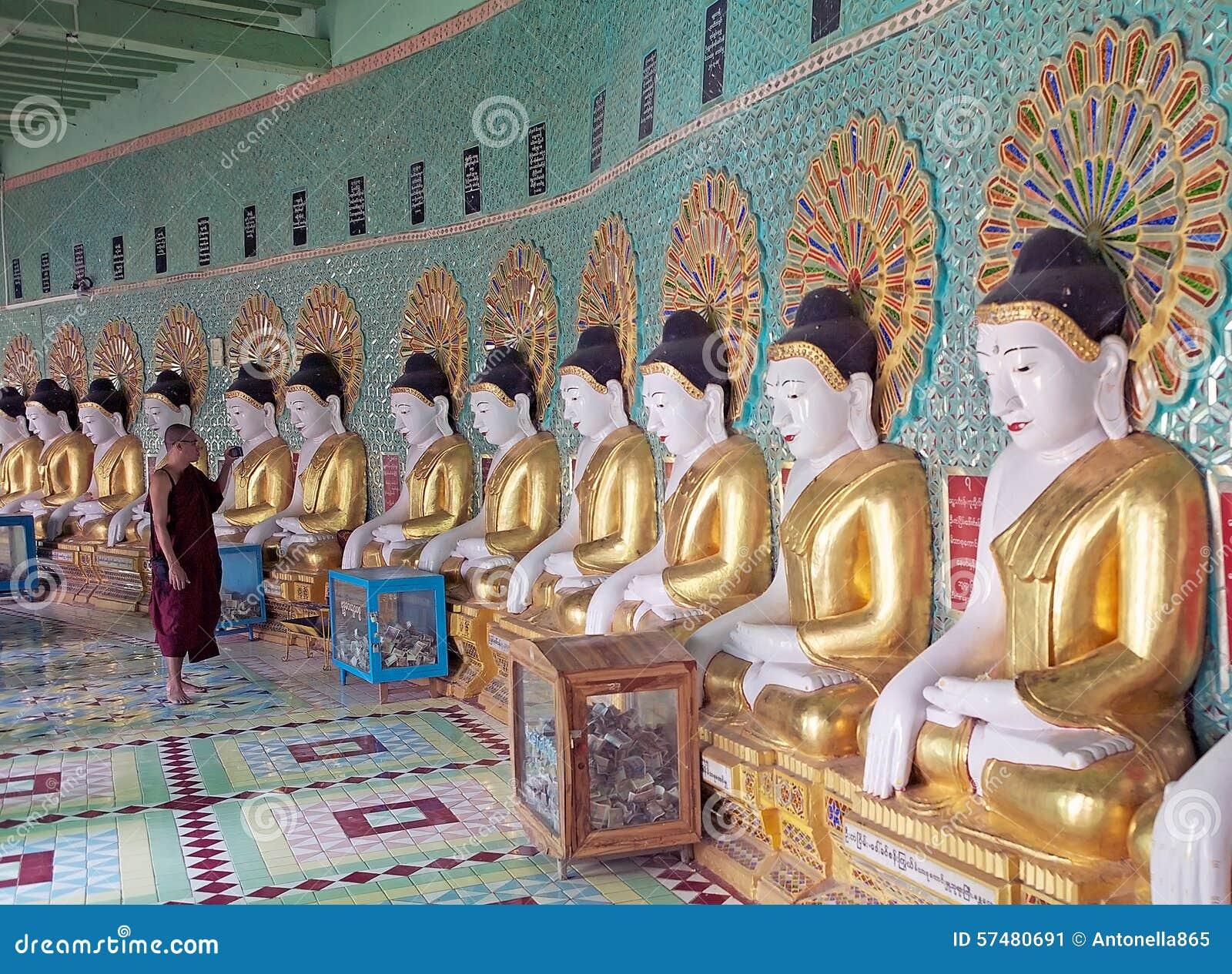 Ελάχιστο Thonze Hill Sagaing σπηλιών του U, το Μιανμάρ