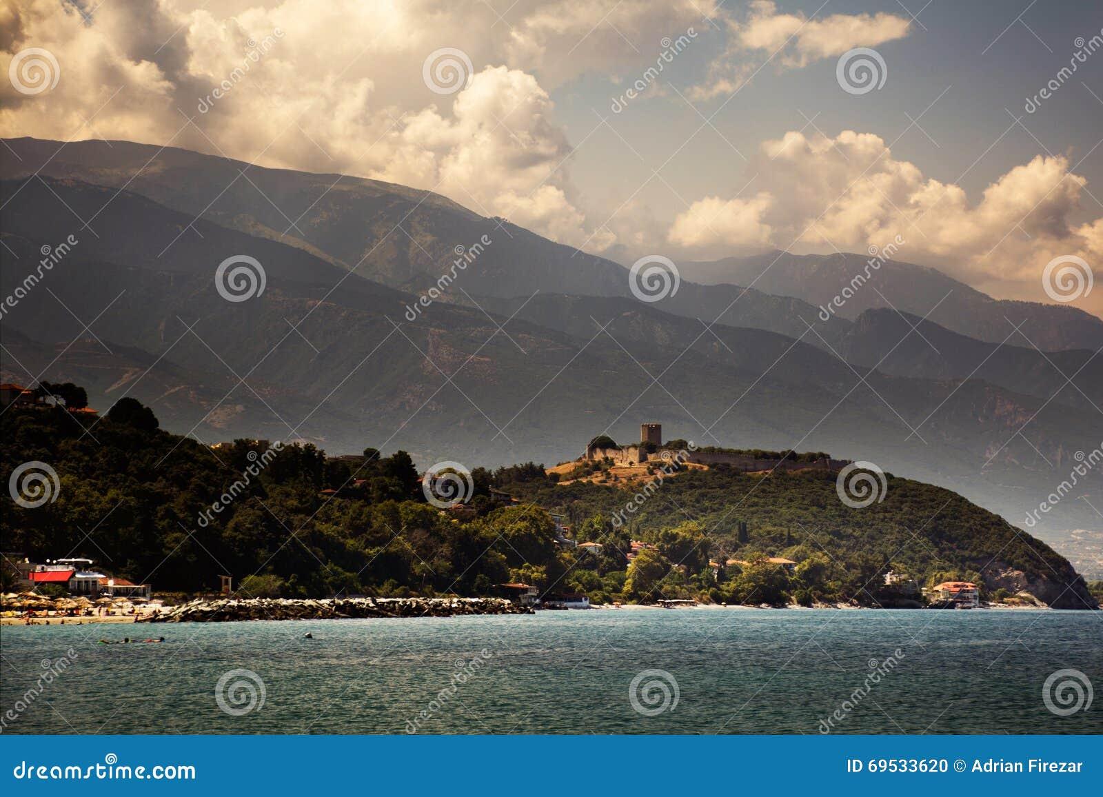 Ελλάδα, μεσαιωνικό φρούριο Platamonas, τον Αύγουστο του 2015