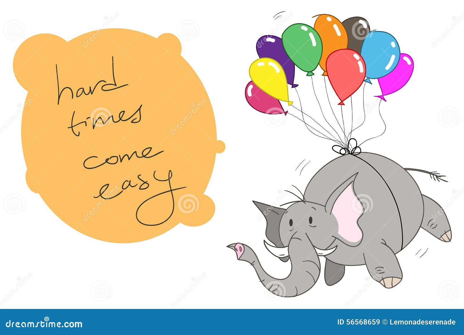 Download ελέφαντας μπαλονιών διανυσματική απεικόνιση. εικονογραφία από πέταγμα - 56568659