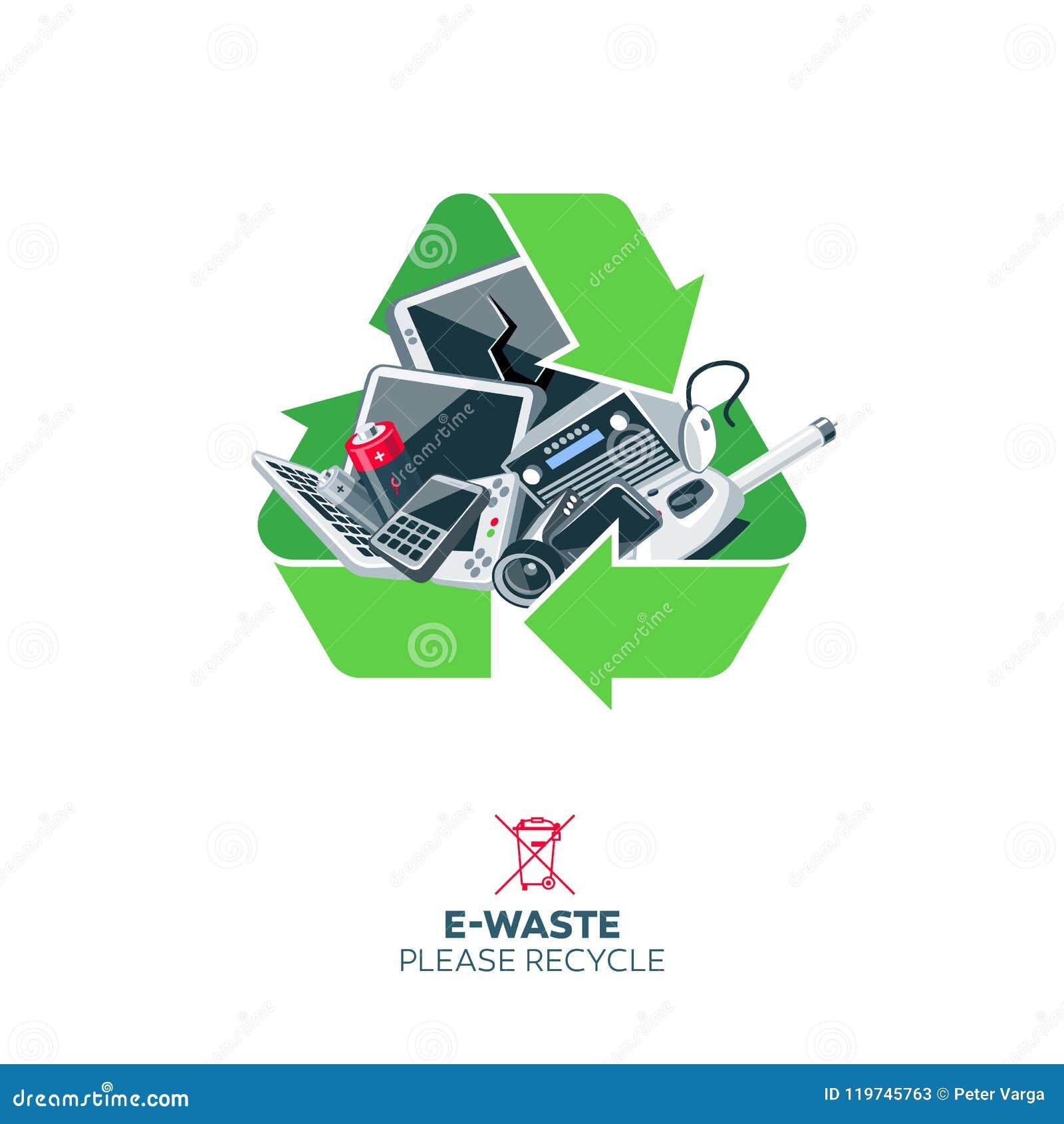 Ε-απόβλητα στην ανακύκλωση του συμβόλου σημαδιών