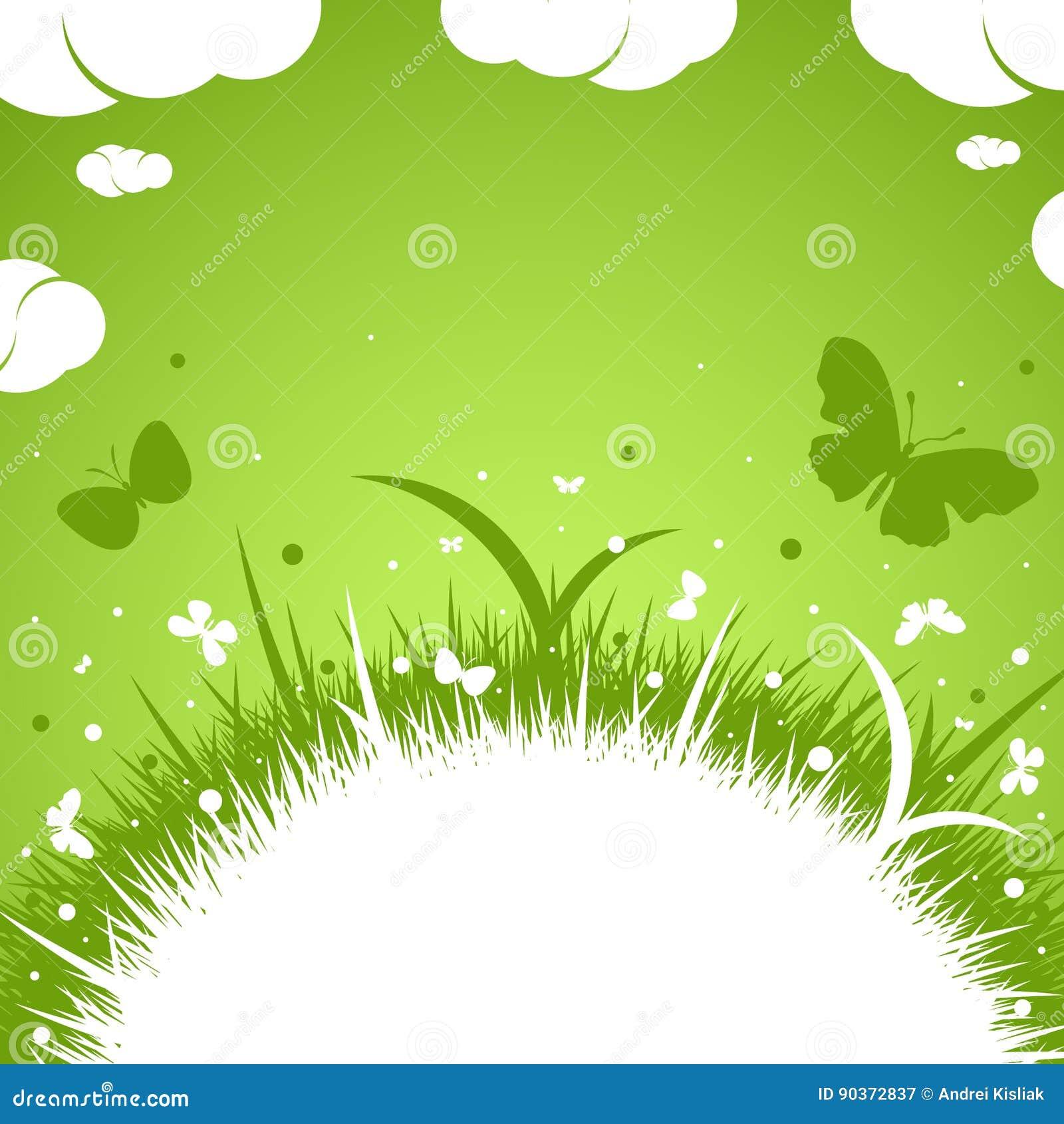 Ελατήριο-θερινό πράσινο θέμα
