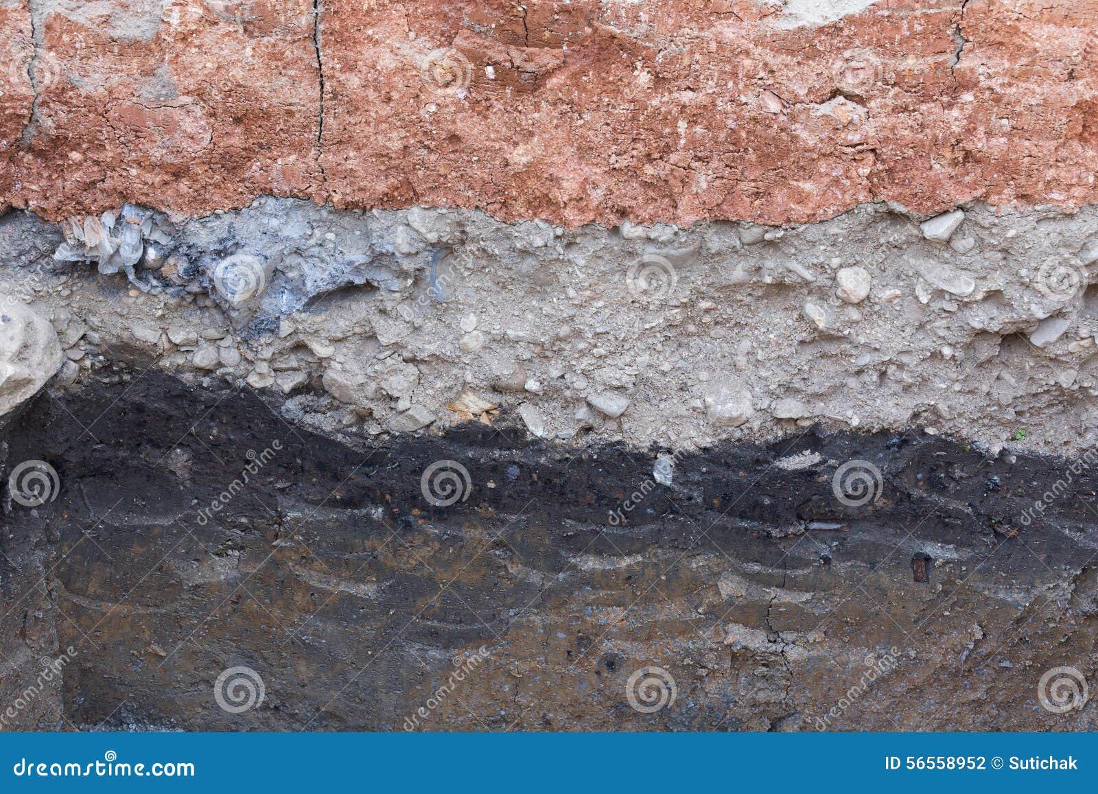 Download Εδαφολογικά στρώματα στην υπόγεια γη της επιστήμης Στοκ Εικόνες - εικόνα από βιομηχανικός, αδελφών: 56558952