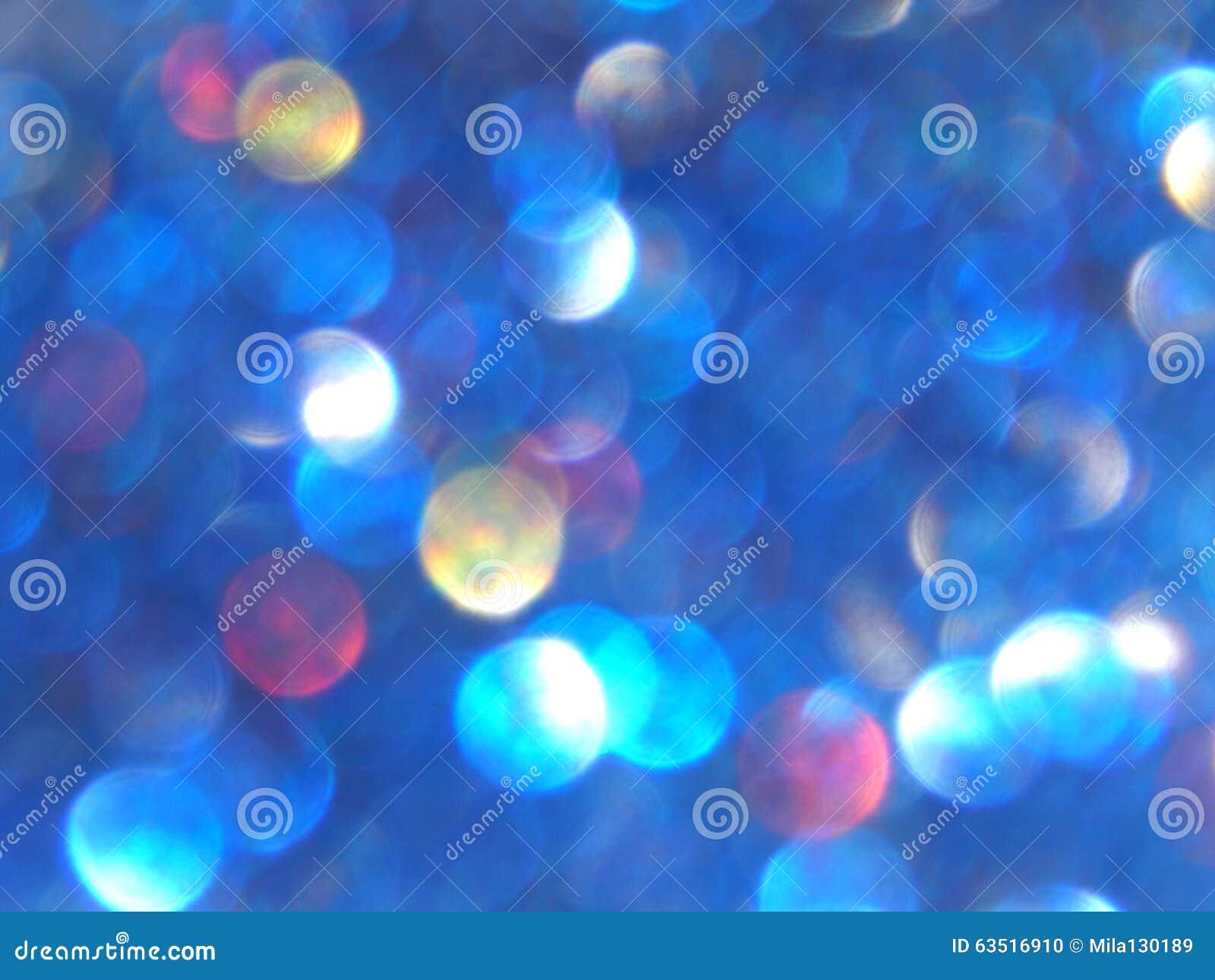 Ελαφριά, μπλε, κόκκινα και κίτρινα μουτζουρωμένα σπινθηρίσματα Defocused bokeh, υπόβαθρο
