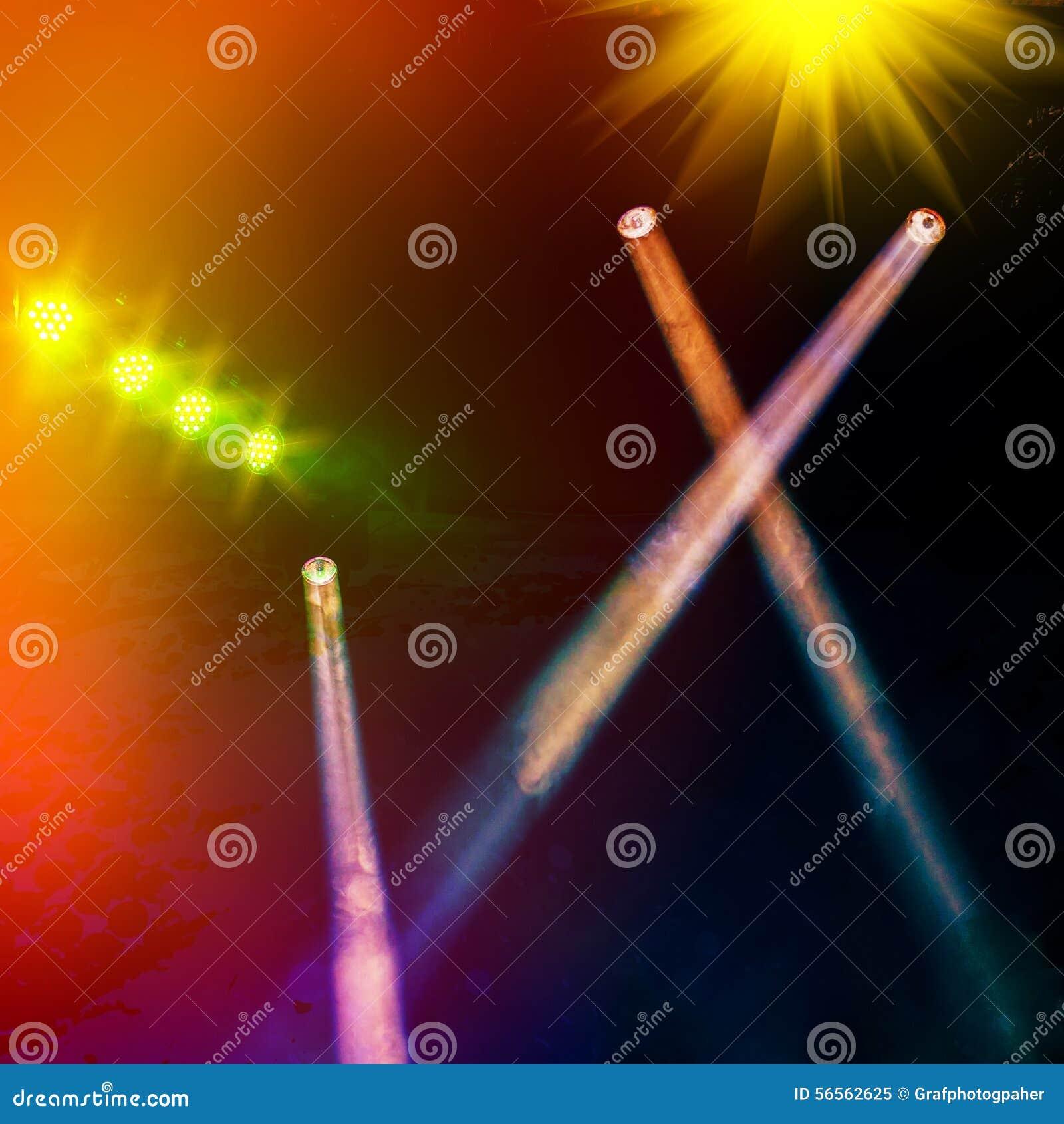 Download Ελαφρύς εμφανίστε στοκ εικόνα. εικόνα από ζήστε, μουσική - 56562625