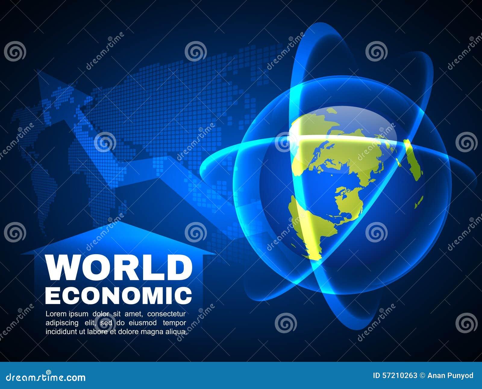 Ελαφρύ διανυσματικό υπόβαθρο φυσαλίδων γραμμών παγκόσμιων οικονομικό και σφαιρικό χαρτών